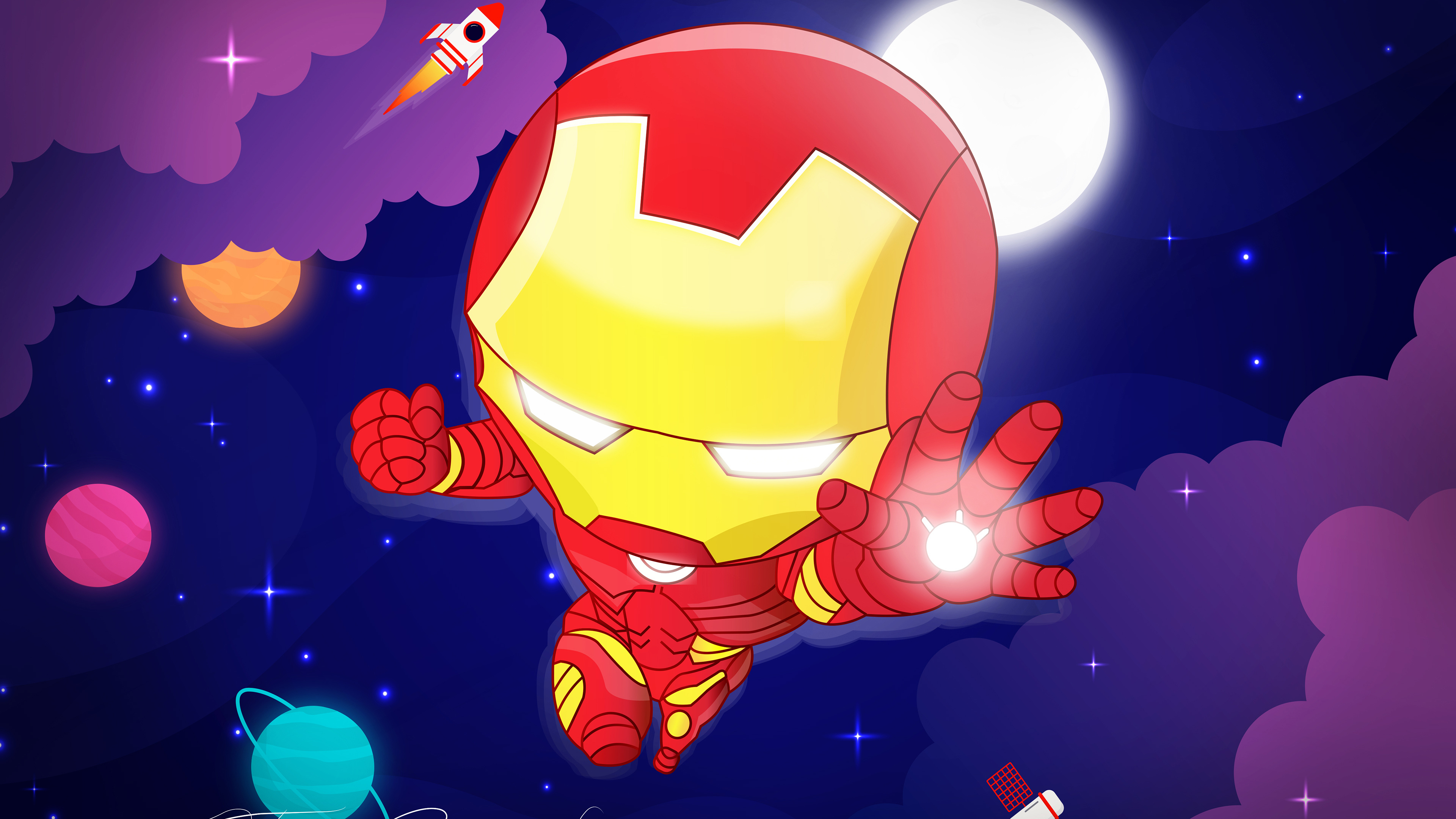 chibi iron man 4k 1554245009 - Chibi Iron Man 4k - superheroes wallpapers, iron man wallpapers, hd-wallpapers, digital art wallpapers, behance wallpapers, artwork wallpapers, 4k-wallpapers