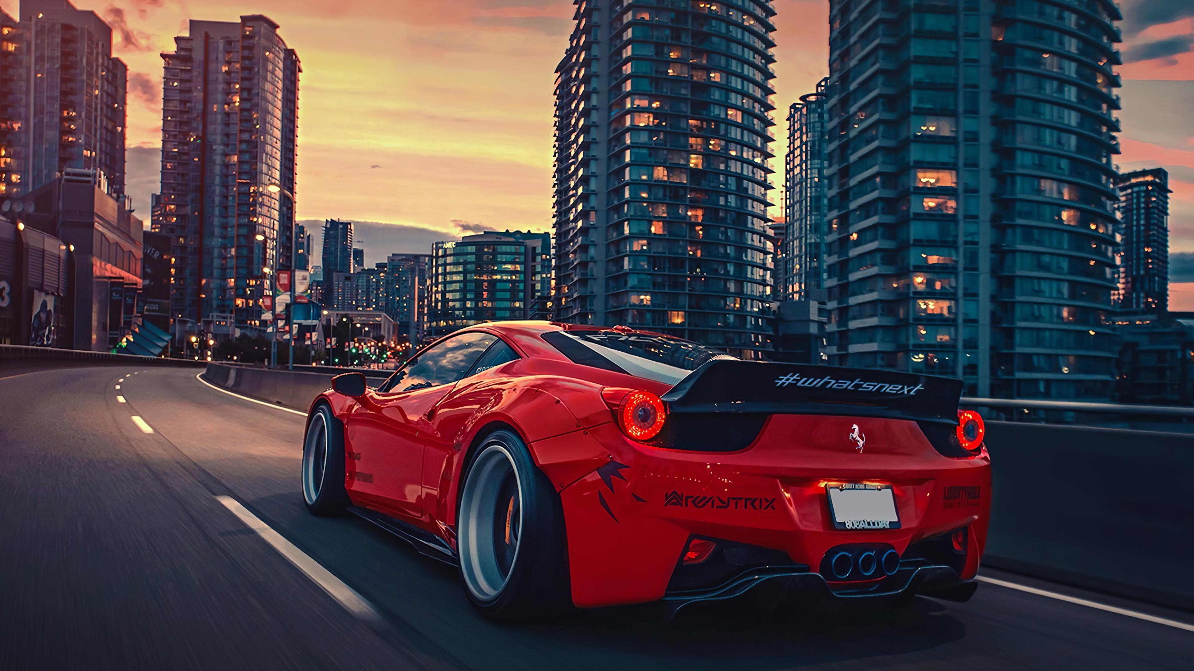 ferrari 458 city 4k 1556185258 - Ferrari 458 City 4k - hd-wallpapers, ferrari wallpapers, ferrari 458 wallpapers, cars wallpapers, 4k-wallpapers