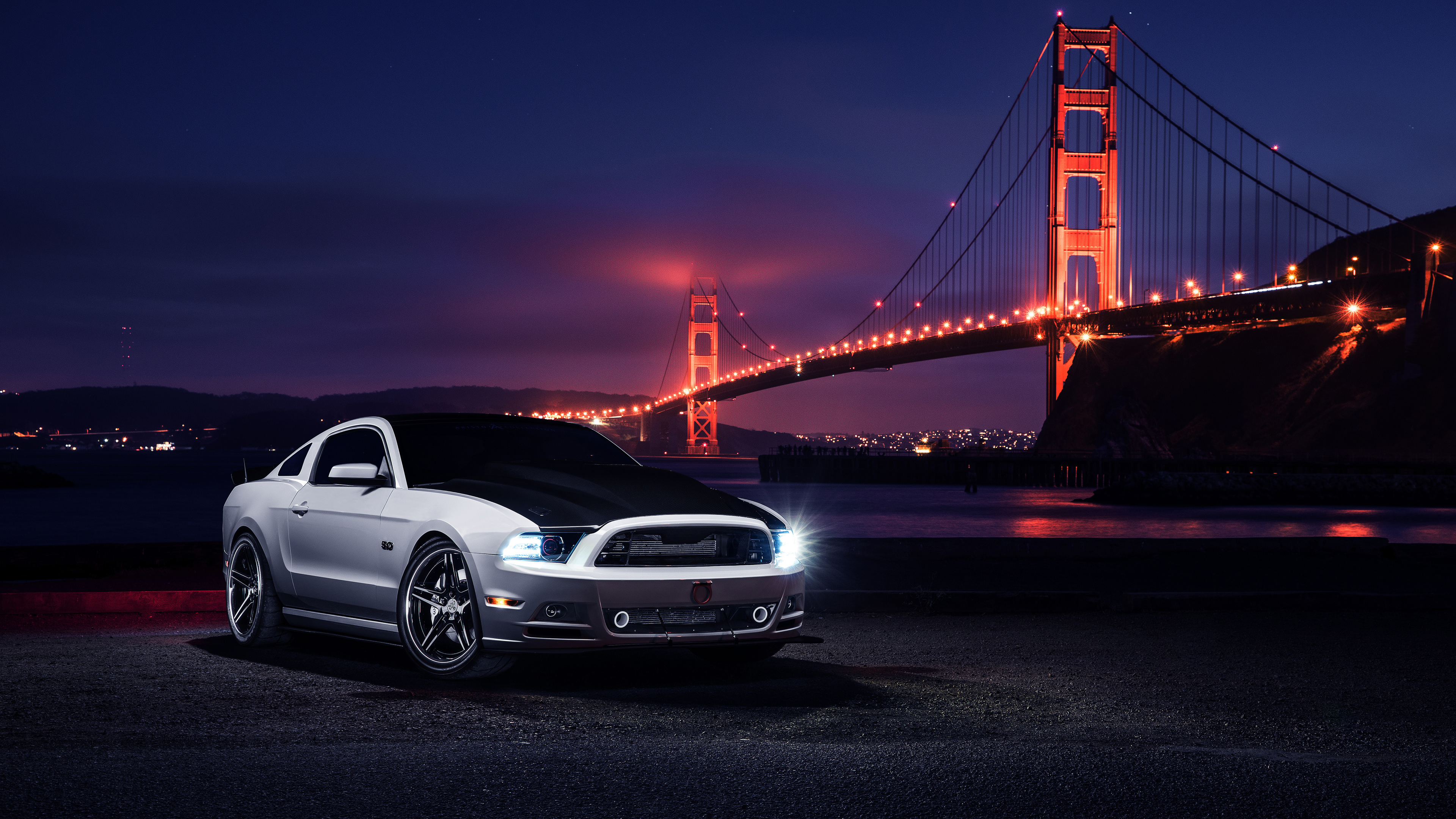 ford mustang golden gate bridge 4k 1556185254 - Ford Mustang Golden Gate Bridge 4k - hd-wallpapers, ford mustang wallpapers, cars wallpapers, 5k wallpapers, 4k-wallpapers, 2018 cars wallpapers