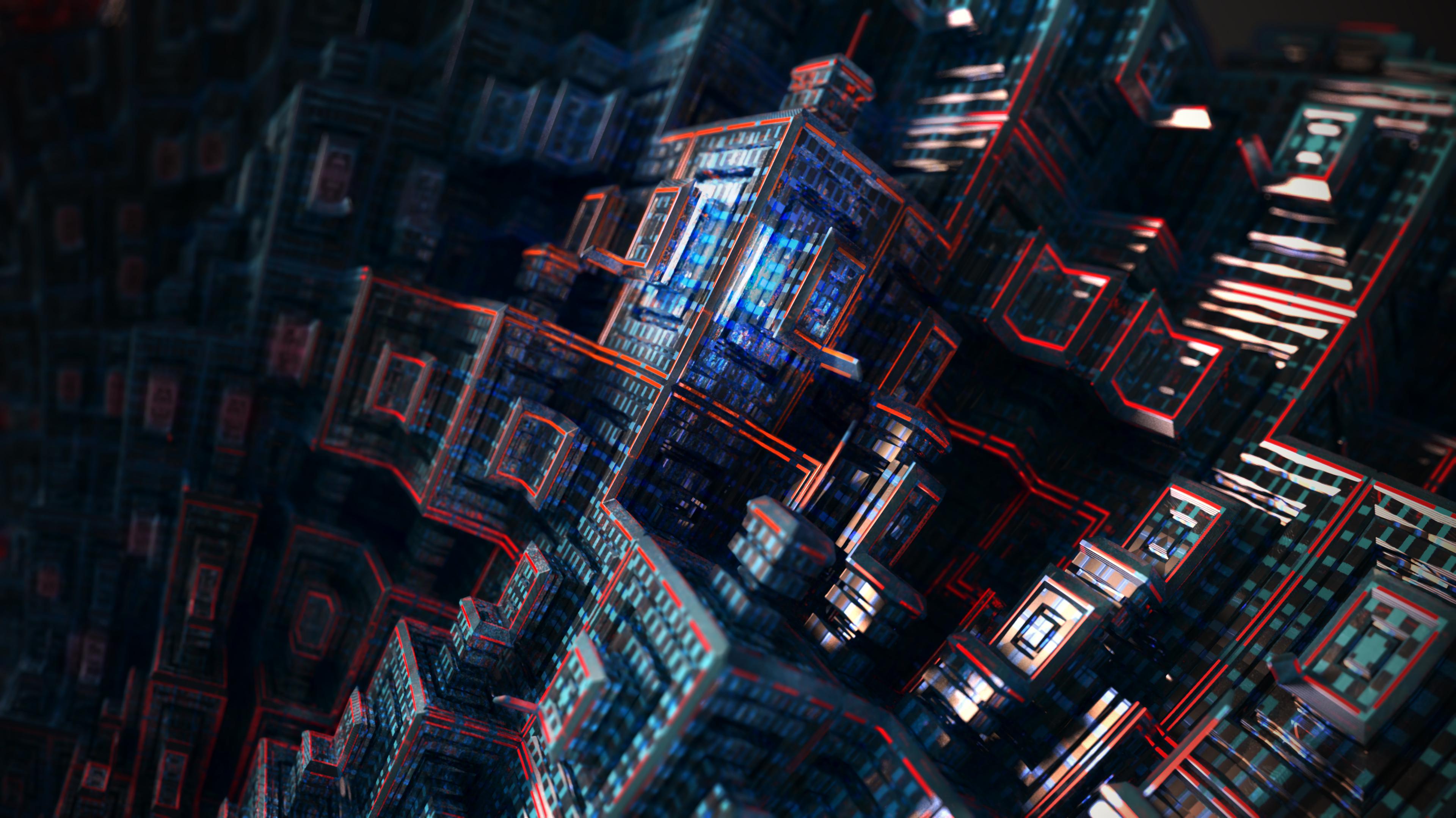 fractal buildings 4k 1555207887 - Fractal Buildings 4k - hd-wallpapers, fractal wallpapers, deviantart wallpapers, abstract wallpapers, 4k-wallpapers