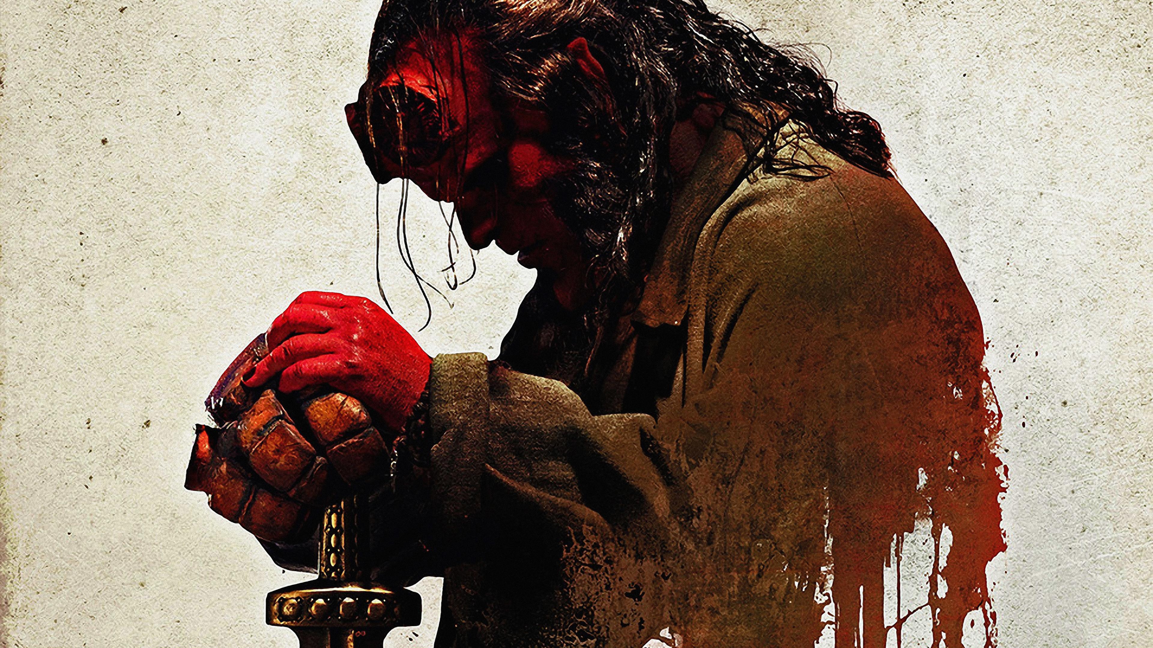 hellboy 4k 2019 1555208392 - Hellboy 4k 2019 - poster wallpapers, movies wallpapers, hellboy wallpapers, hd-wallpapers, 4k-wallpapers, 2019 movies wallpapers