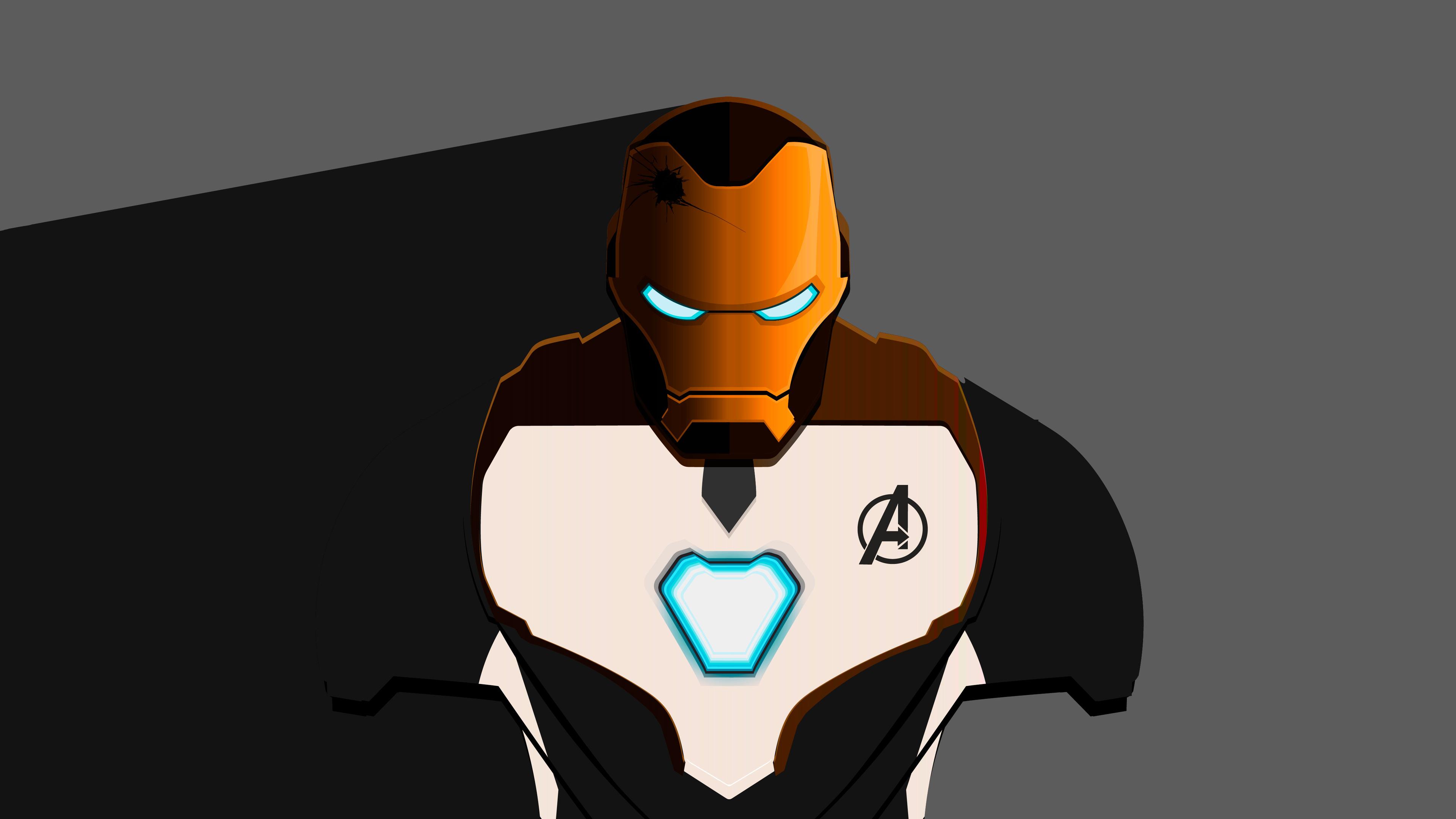 Wallpaper 4k Iron Man Mark 50 Minimalist Avengers Endgame 4k 2019