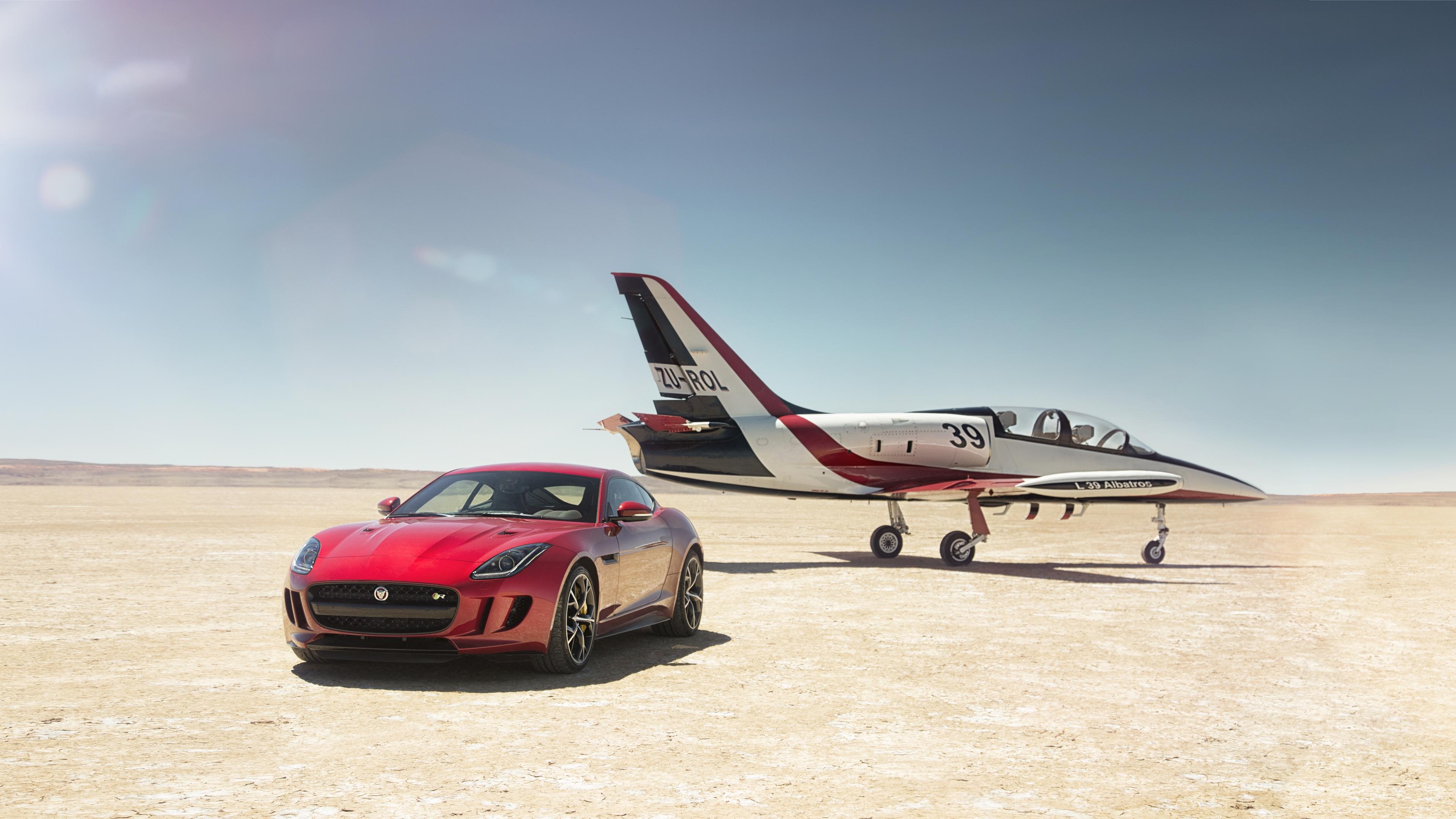 Wallpaper 4k Jaguar F Type With Jet 4k 2019 Cars Wallpapers 4k