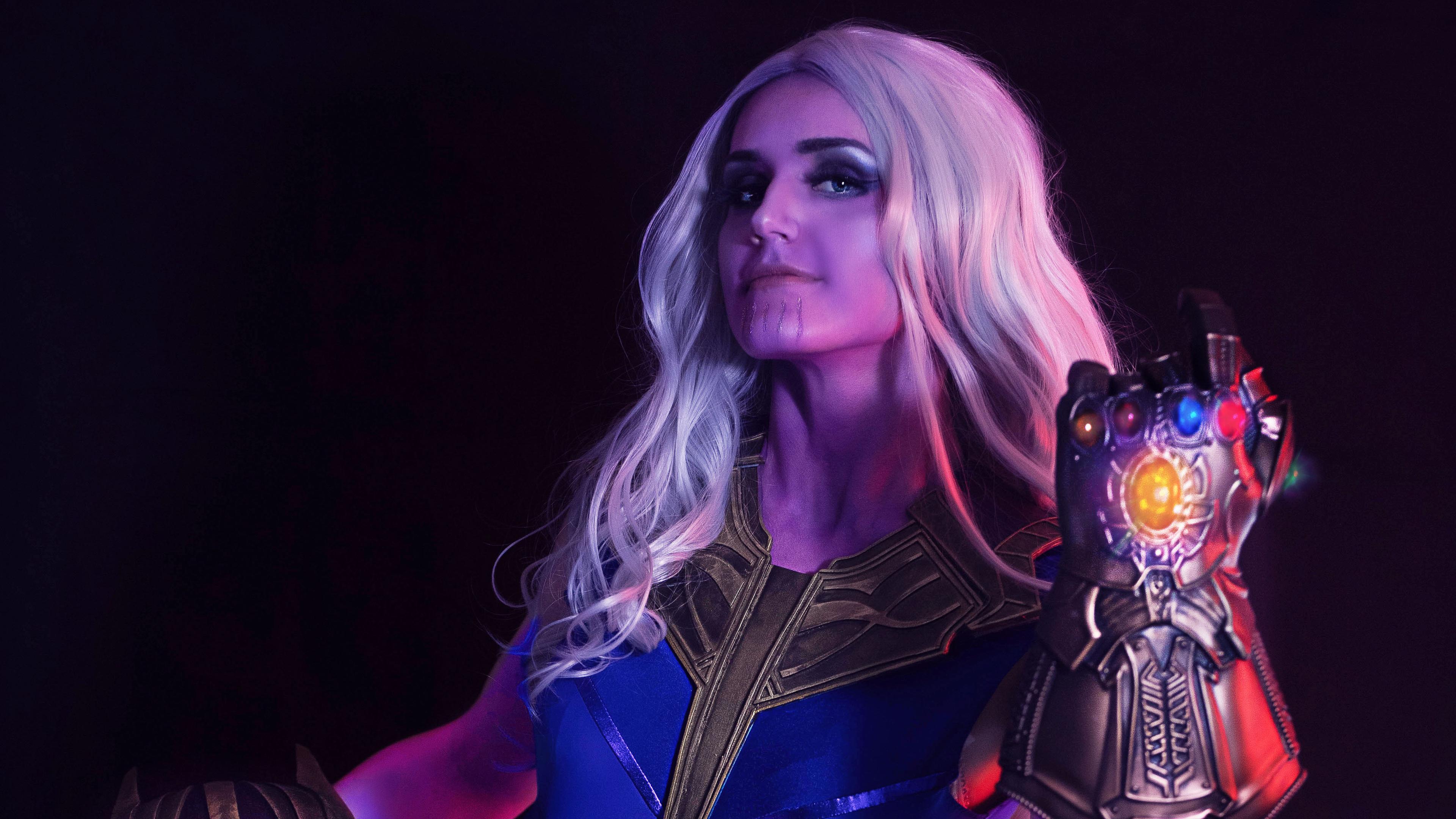 lady thanos 4k 1556184966 - Lady Thanos 4k - thanos-wallpapers, superheroes wallpapers, hd-wallpapers, 4k-wallpapers