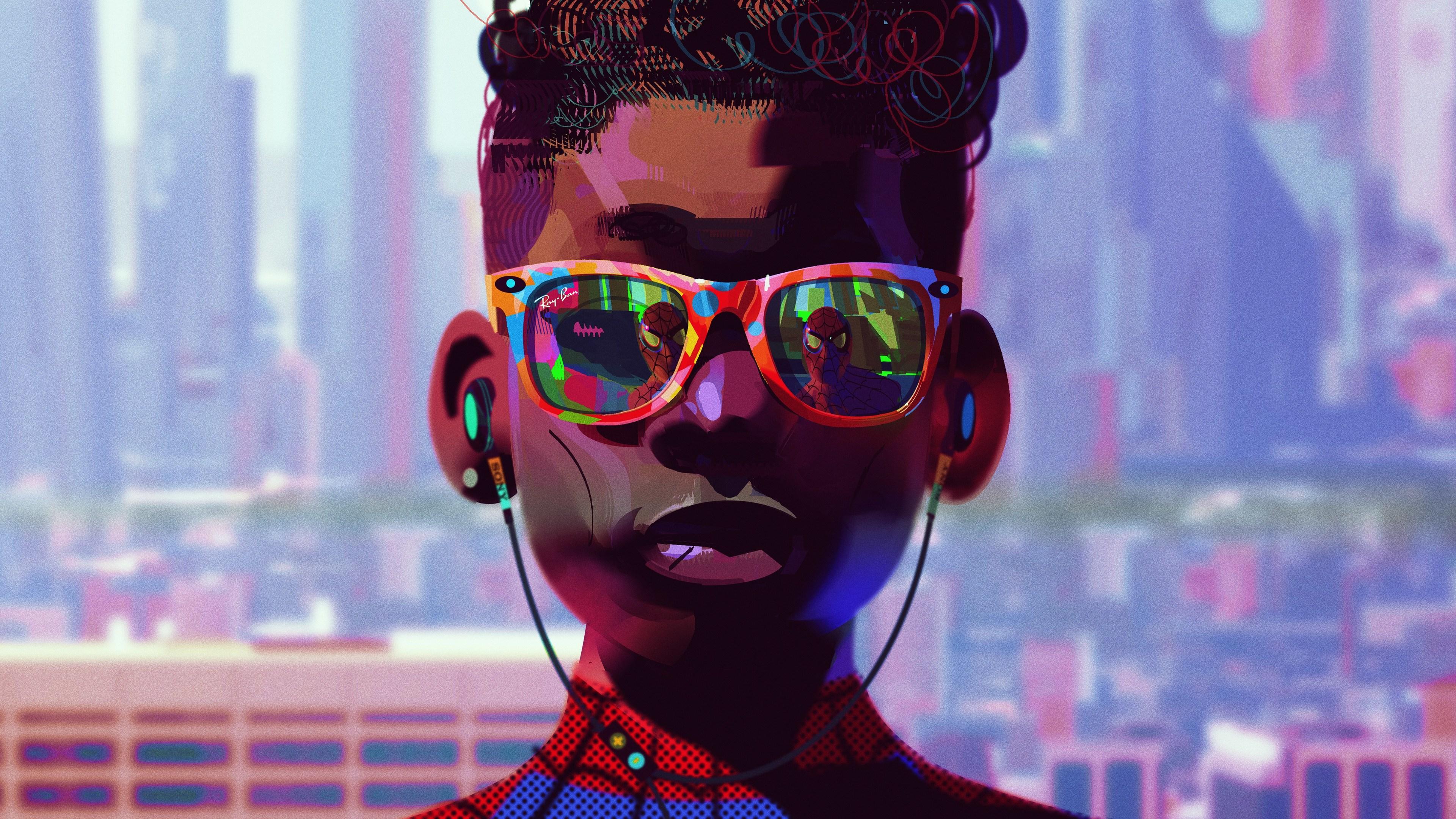 miles morales wearing glasses 4k 1556184761 - Miles Morales Wearing Glasses 4k - superheroes wallpapers, spiderman wallpapers, hd-wallpapers, digital art wallpapers, artwork wallpapers, 5k wallpapers, 4k-wallpapers