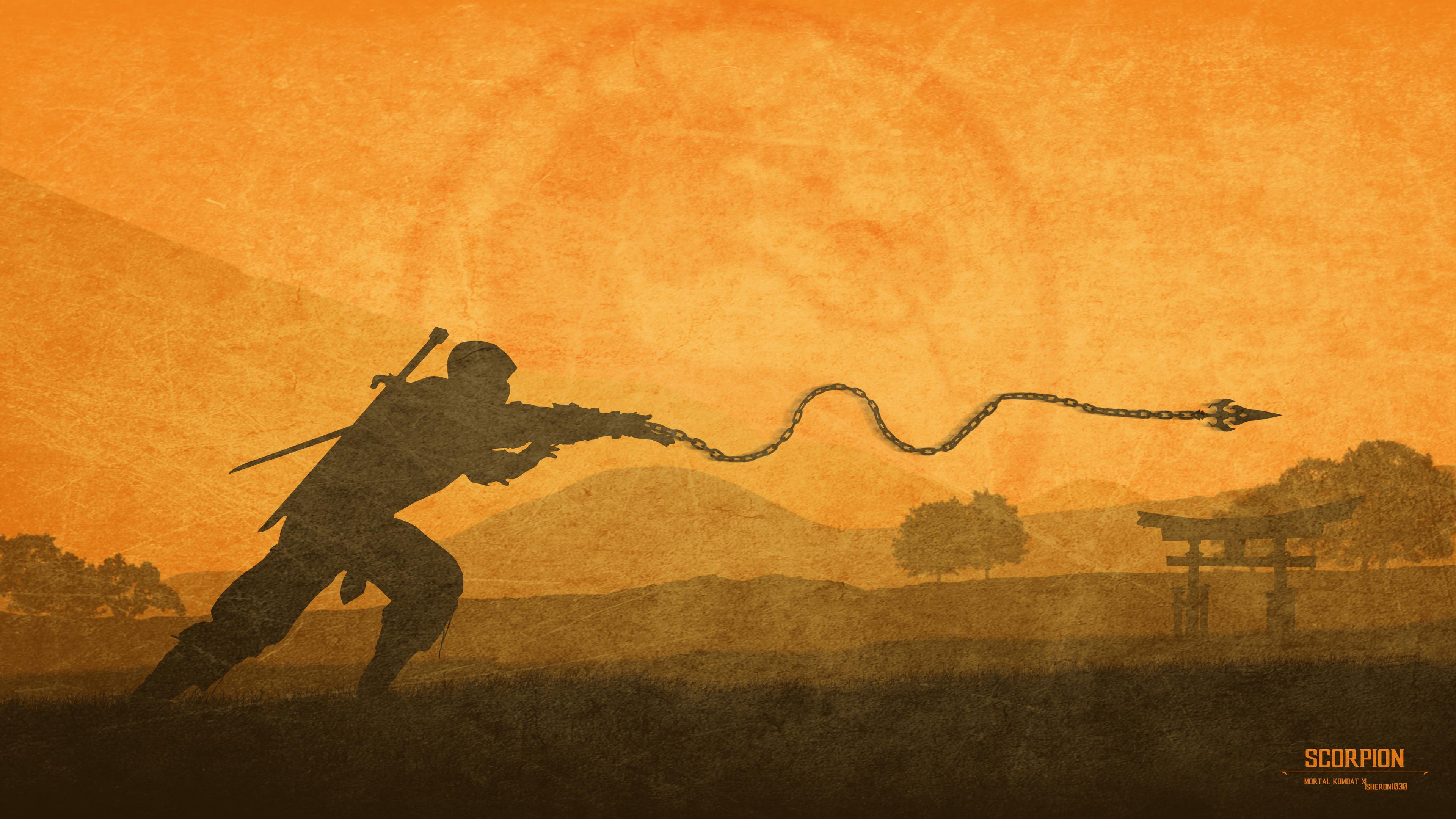 Wallpaper 4k Mortal Kombat X Scorpion 4k 4k Wallpapers 5k