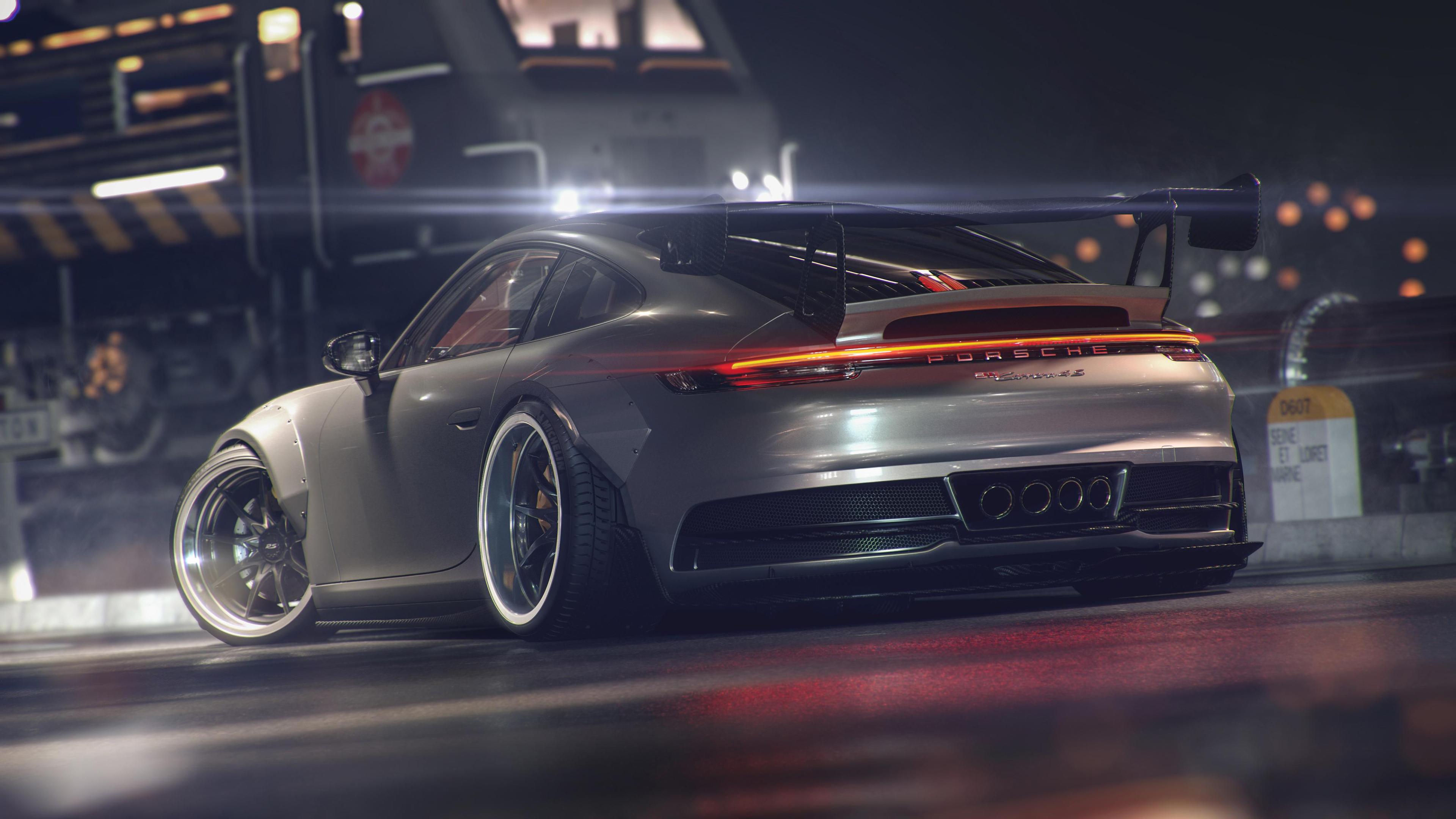 porsche gt3 911 gt rear 4k 1554245175 - Porsche GT3 911 GT Rear 4k - porsche wallpapers, porsche gt3 wallpapers, hd-wallpapers, cars wallpapers, behance wallpapers, 4k-wallpapers