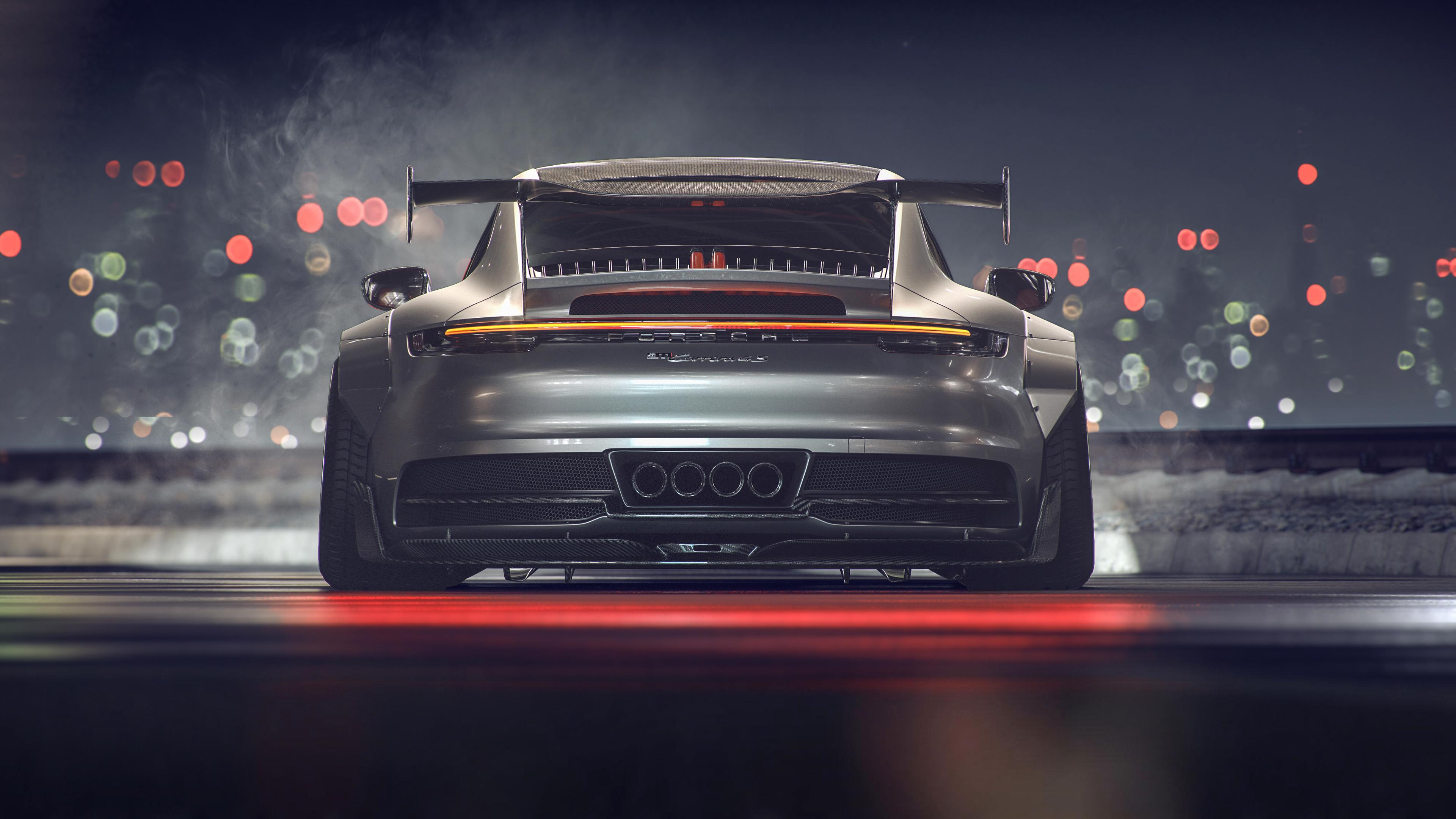 porsche gt3 911 gt rear 4k 1554245182 - Porsche GT3 911 GT Rear 4k - porsche wallpapers, porsche gt3 wallpapers, hd-wallpapers, cars wallpapers, behance wallpapers, 4k-wallpapers