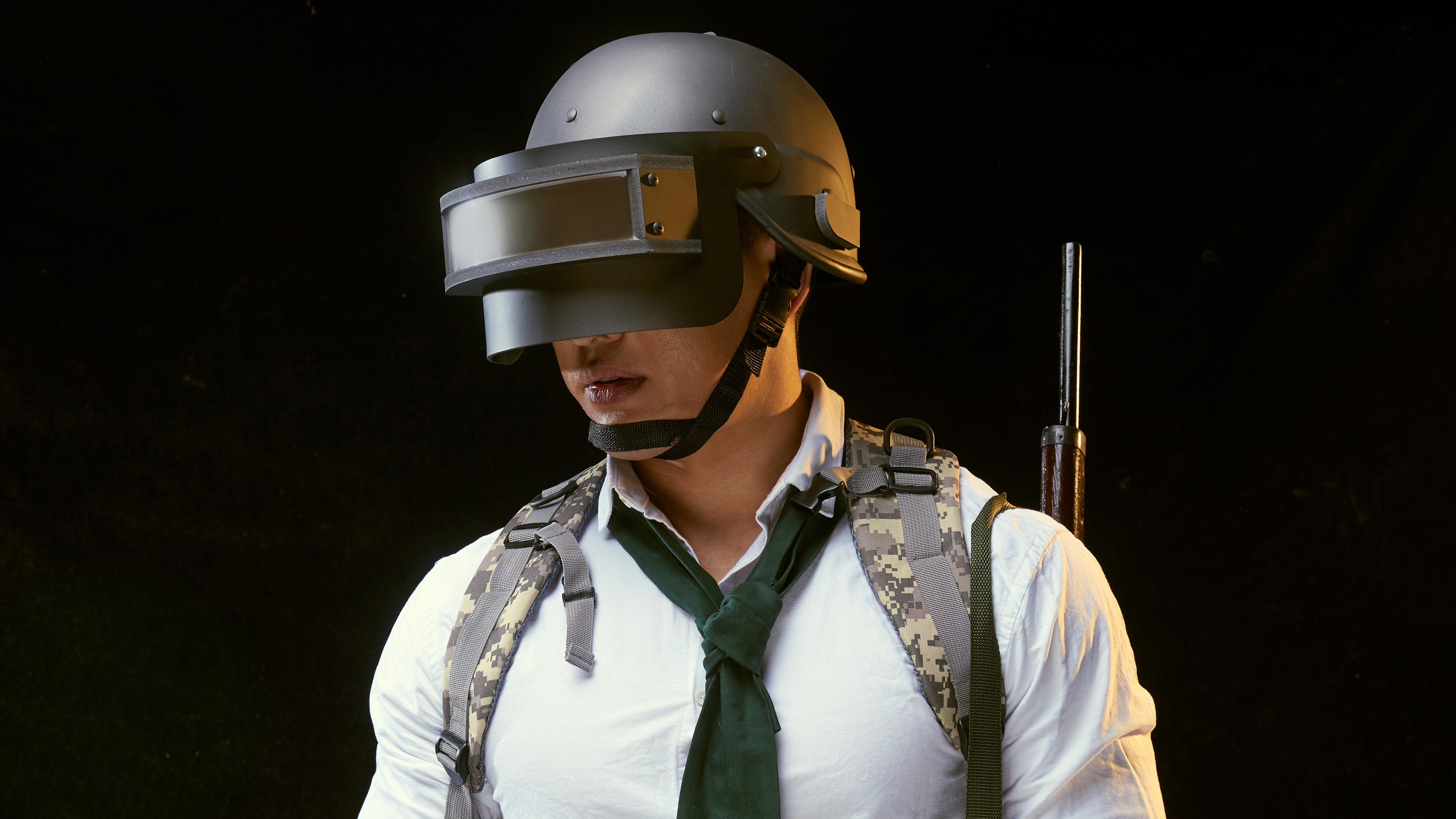 pubg helmet guy cosplay 4k 1554244335 - Pubg Helmet Guy Cosplay 4k - pubg wallpapers, playerunknowns battlegrounds wallpapers, hd-wallpapers, games wallpapers, behance wallpapers2018 games wallpapers, behance wallpapers, 4k-wallpapers