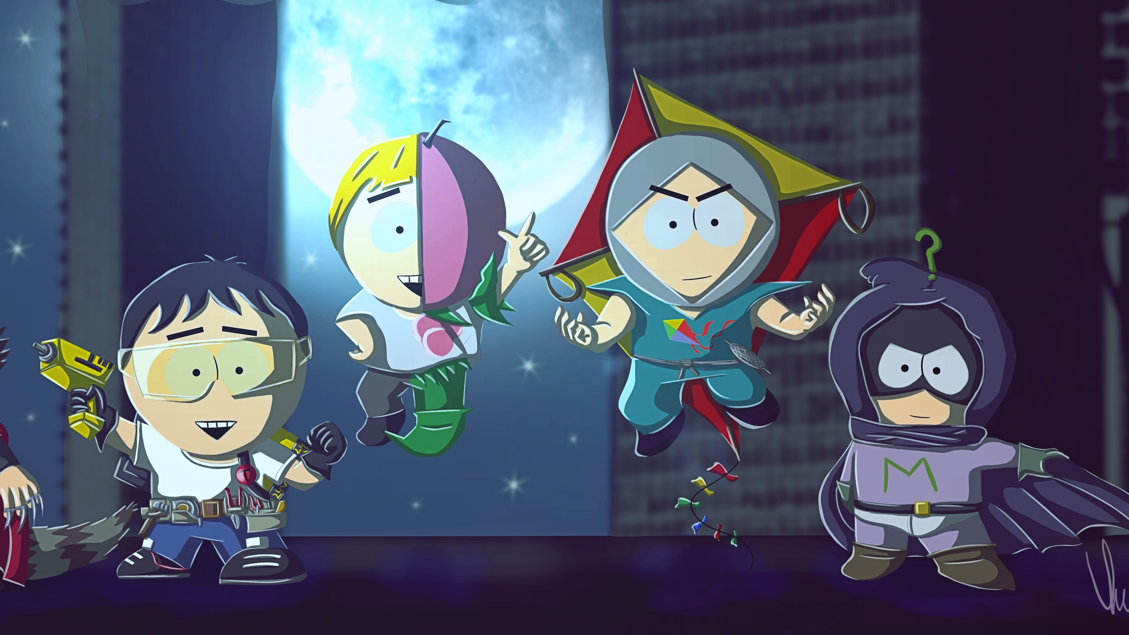 south park superheroes fan art 4k 1555208565 - South Park Superheroes Fan art 4k - tv shows wallpapers, south park wallpapers, hd-wallpapers, cartoons wallpapers, animated shows wallpapers, 4k-wallpapers