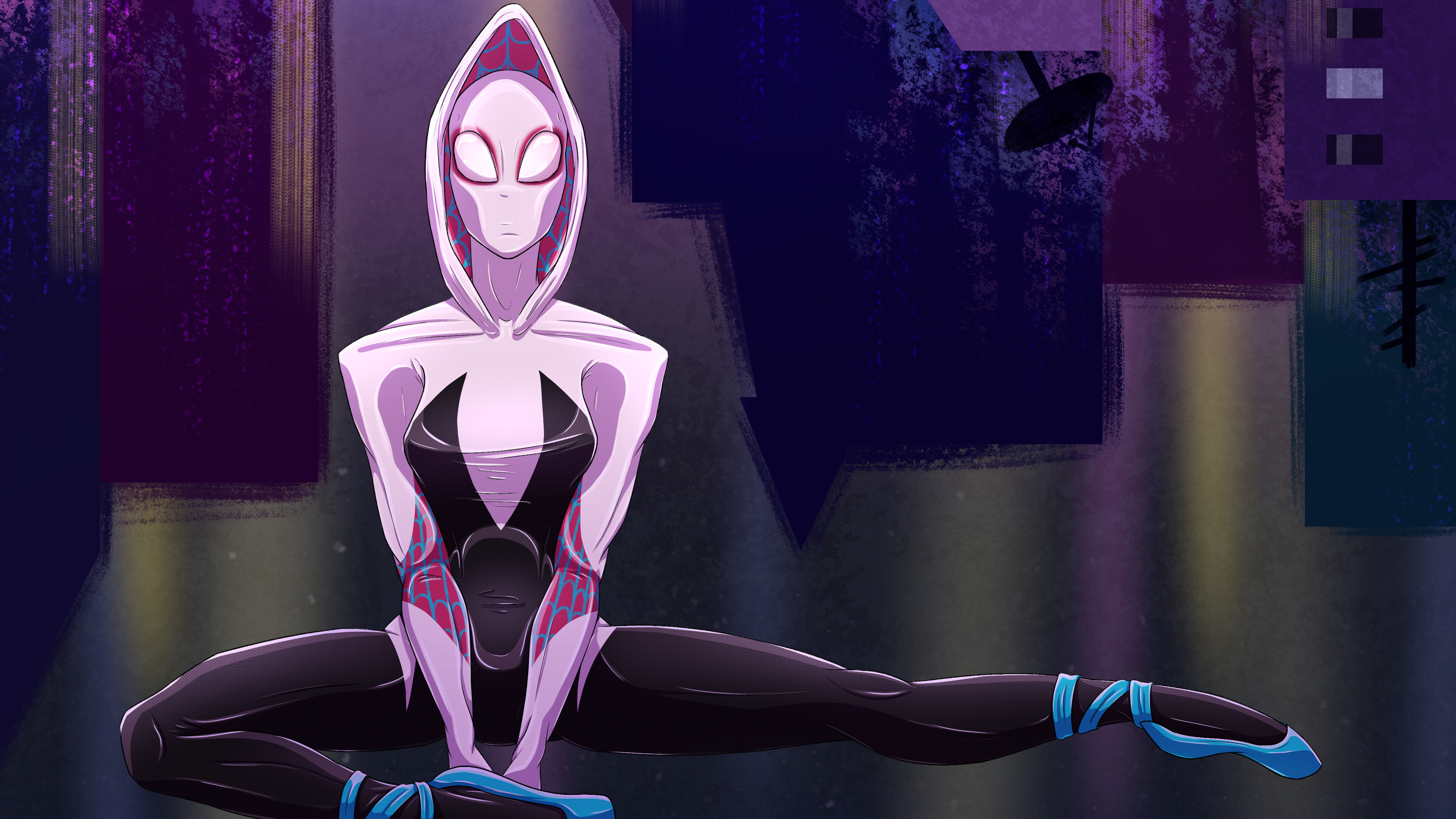 spider gwen artwork 4k 1556184986 - Spider Gwen Artwork 4k - superheroes wallpapers, spiderman into the spider verse wallpapers, hd-wallpapers, gwen stacy wallpapers, digital art wallpapers, deviantart wallpapers, artwork wallpapers, artist wallpapers, 4k-wallpapers