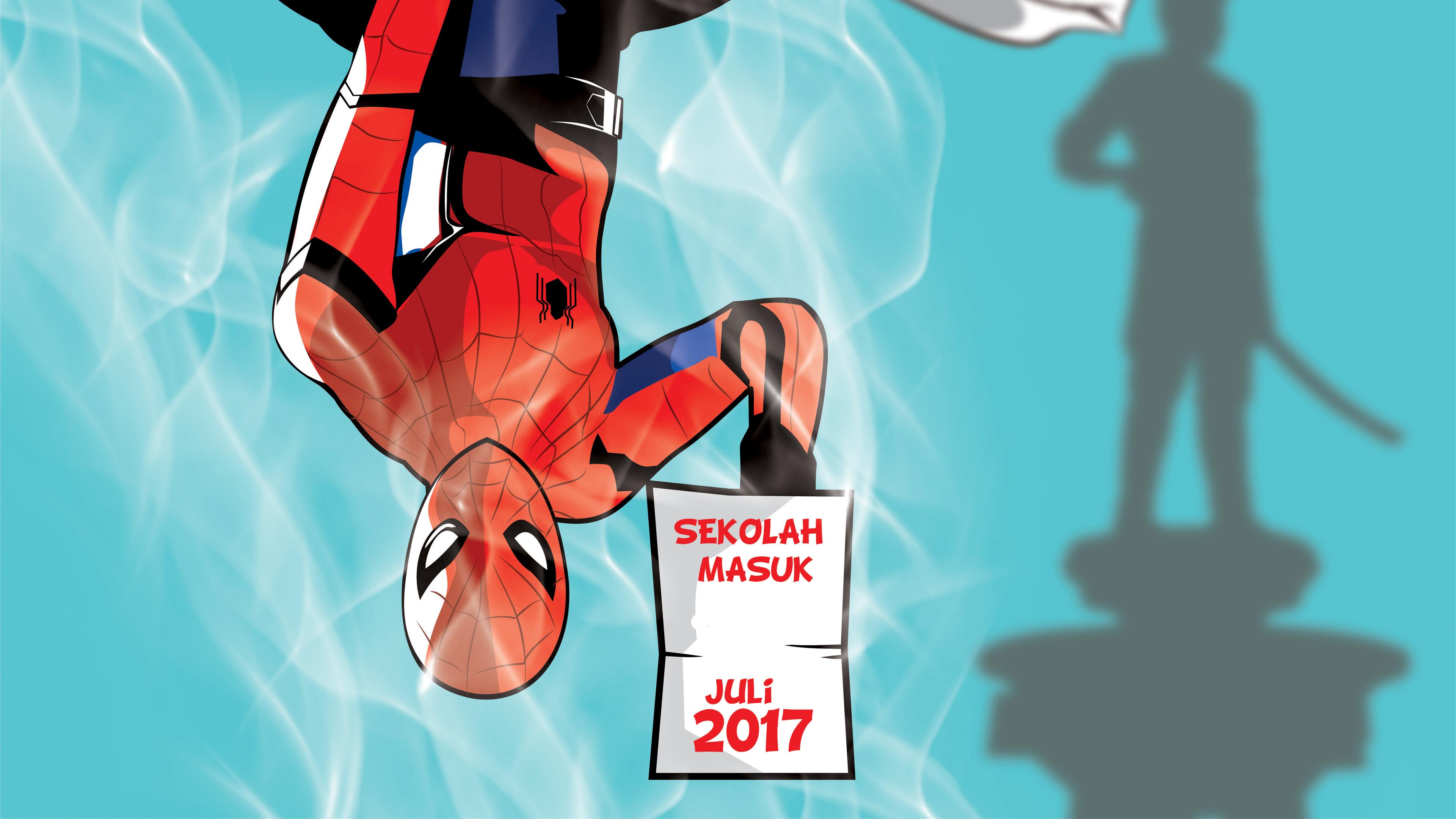 spiderman hanging down 4k 1554245003 - Spiderman Hanging Down 4k - superheroes wallpapers, spiderman wallpapers, hd-wallpapers, digital art wallpapers, deviantart wallpapers, artwork wallpapers, artist wallpapers, 8k wallpapers, 5k wallpapers, 4k-wallpapers