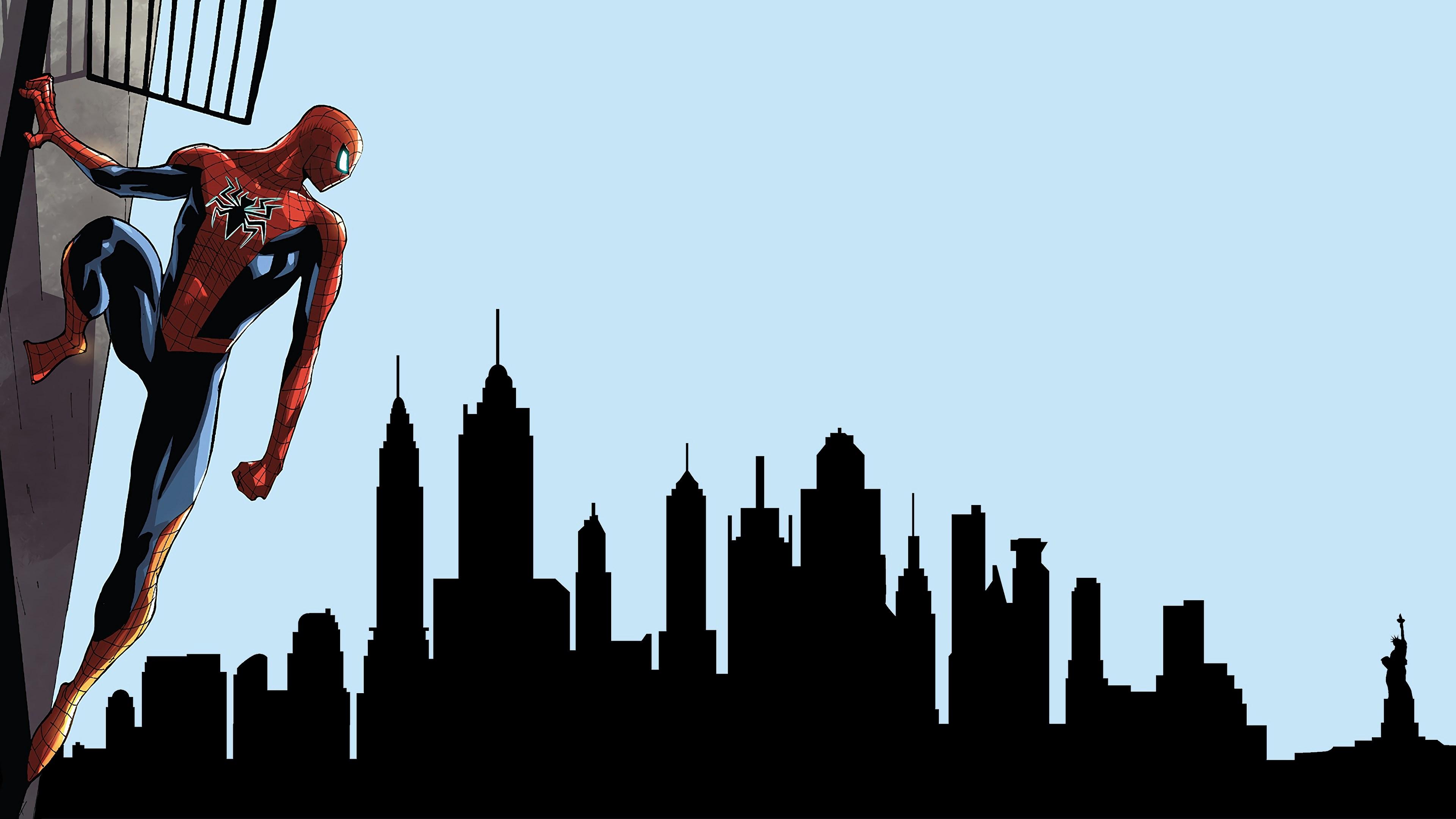 spiderman looking at city 4k 1554245007 - Spiderman Looking At City 4k - superheroes wallpapers, spiderman wallpapers, hd-wallpapers, 4k-wallpapers