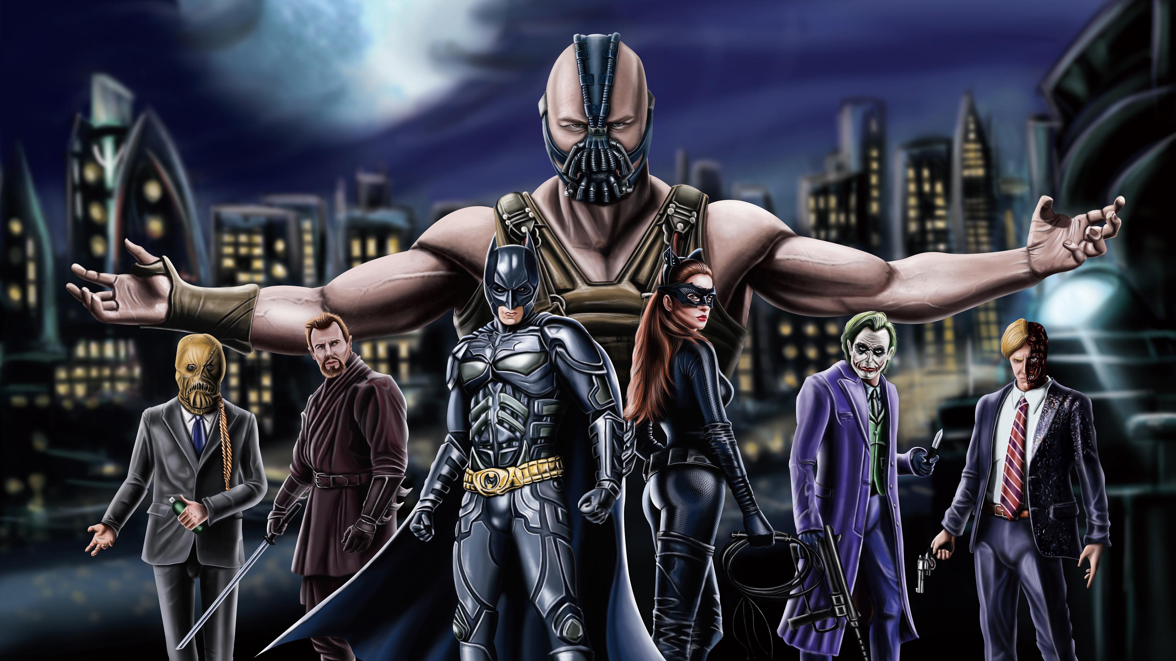 Wallpaper 4k The Dark Knight Trilogy Artwork 4k 4k Wallpapers