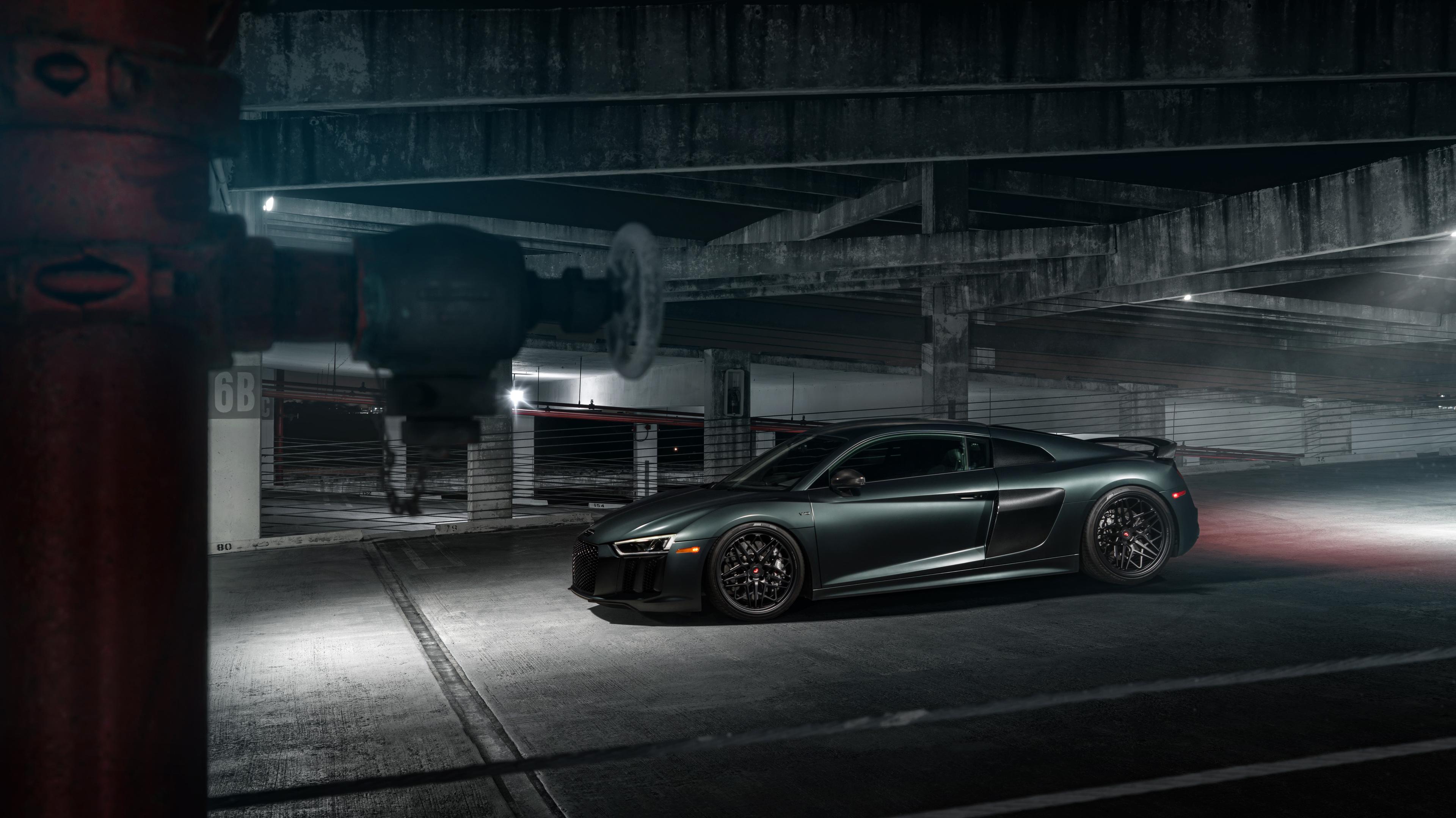 vossen green audi r8 4k 1554245199 - Vossen Green Audi R8 4k - hd-wallpapers, cars wallpapers, audi wallpapers, audi r8 wallpapers, 8k wallpapers, 5k wallpapers, 4k-wallpapers, 2019 cars wallpapers