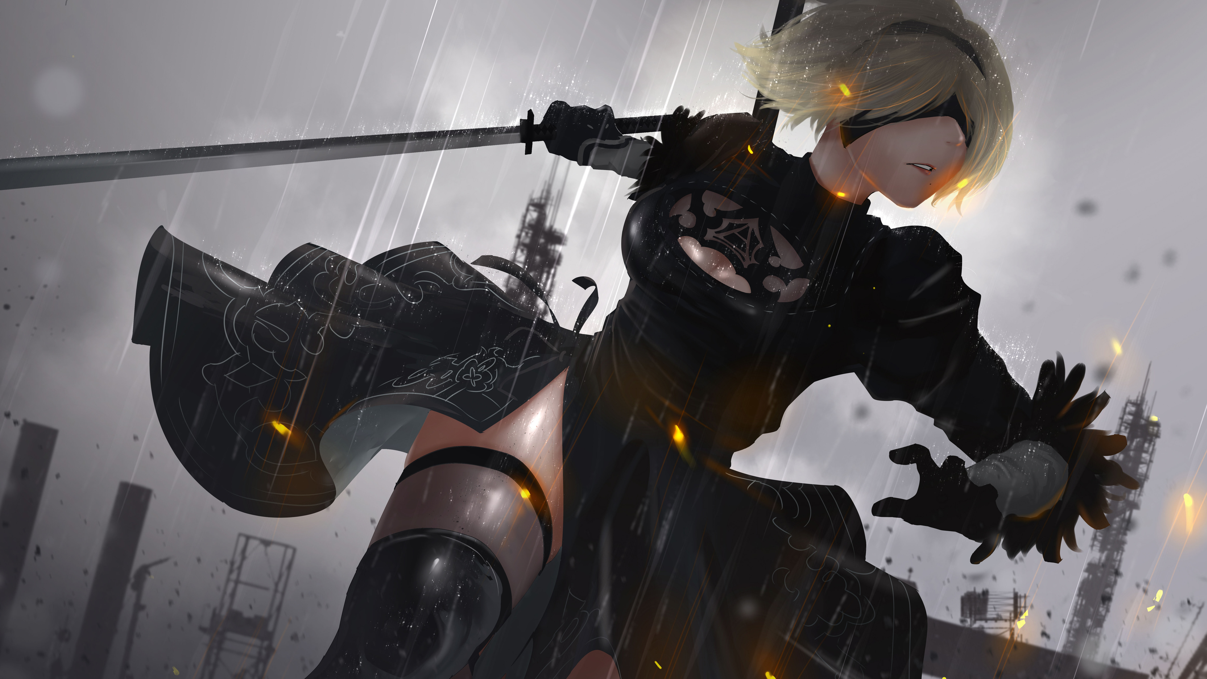 2b nier automata 4k 1558221081 - 2B NieR Automata 4k - nier automata wallpapers, hd-wallpapers, games wallpapers, digital art wallpapers, deviantart wallpapers, artwork wallpapers, artist wallpapers, 4k-wallpapers