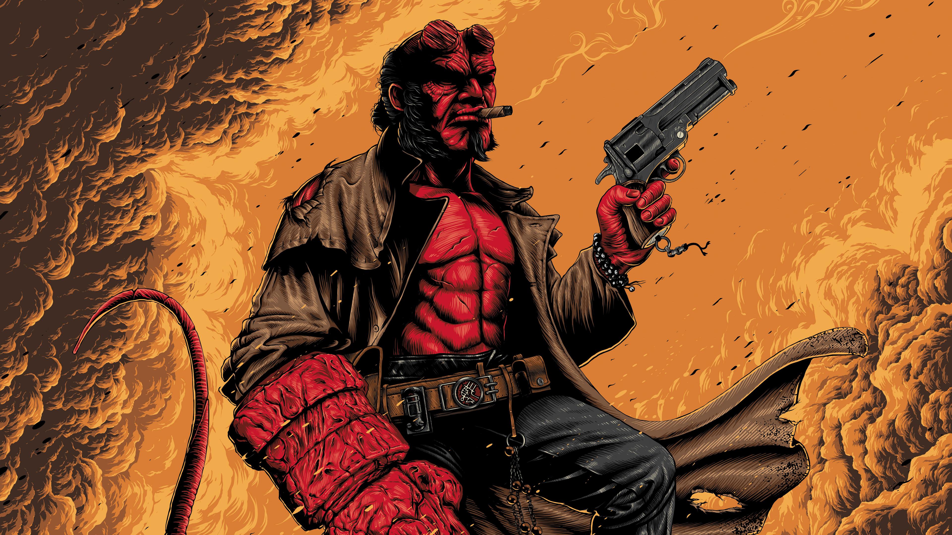 4k hellboy artwork 1557260300 - 4k Hellboy Artwork - superheroes wallpapers, hellboy wallpapers, hd-wallpapers, digital art wallpapers, artwork wallpapers, art wallpapers, 4k-wallpapers