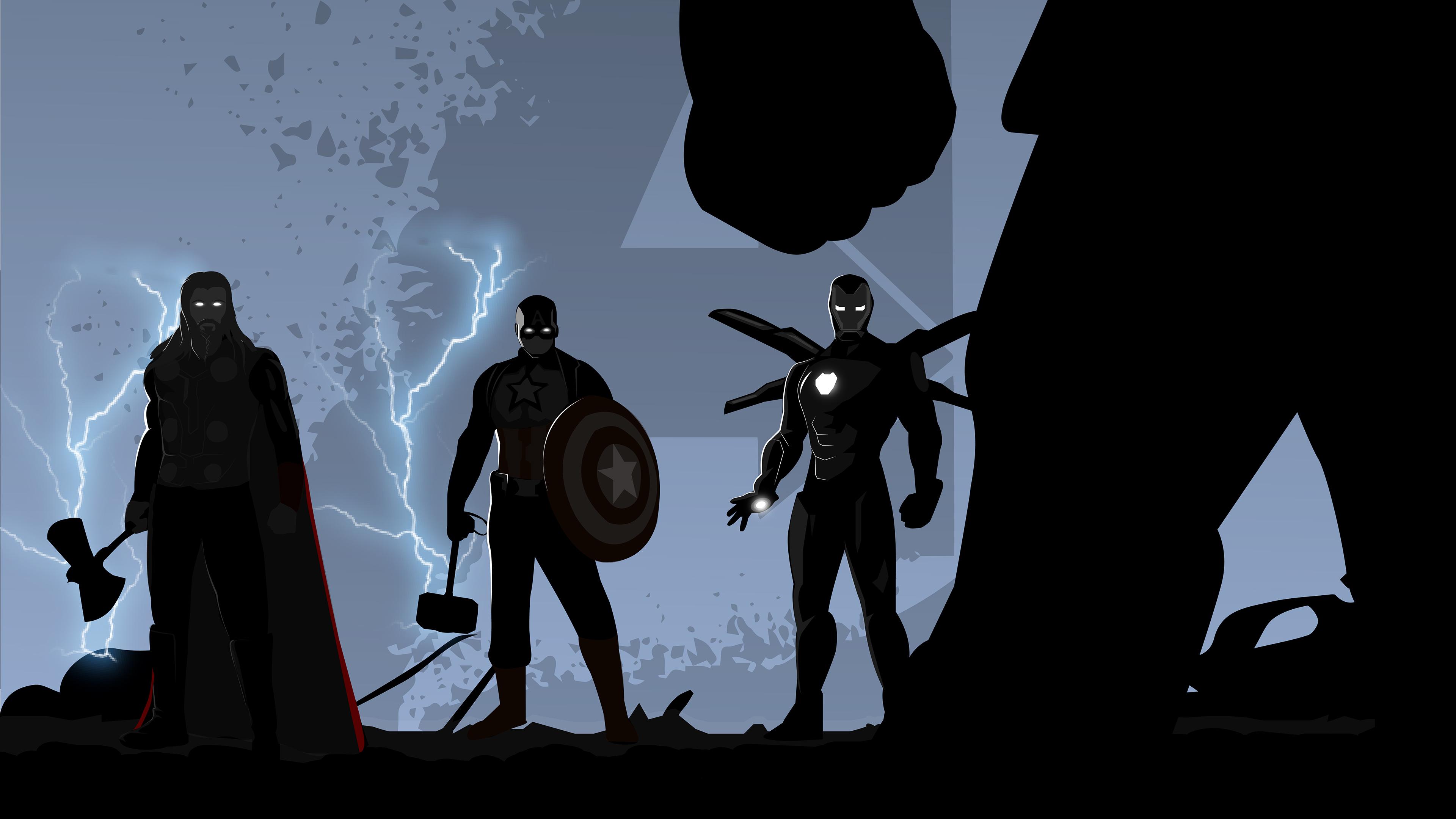 Wallpaper 4k Avengers Endgame Minimal Illustration 4k 2019 Movies