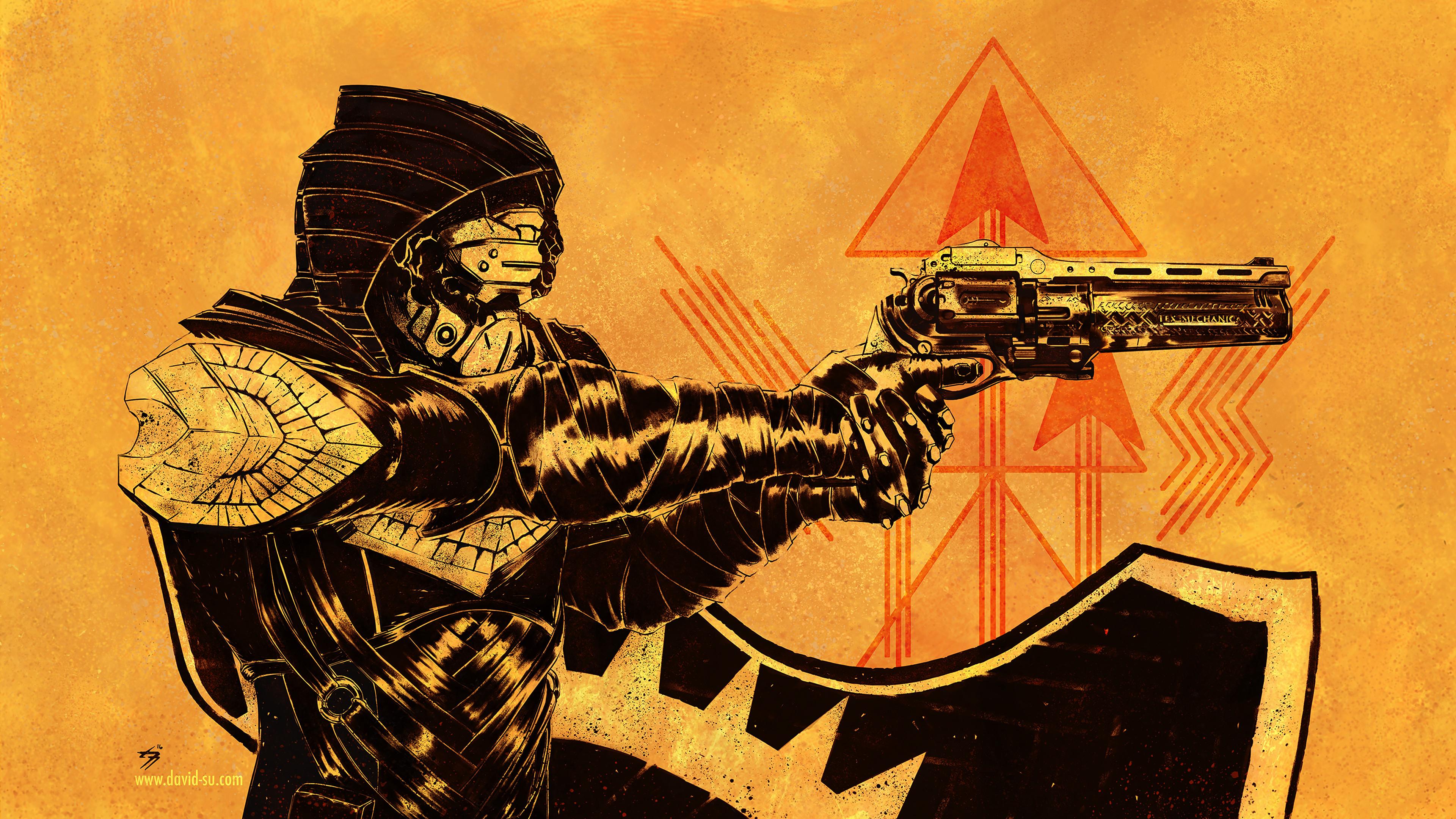 destiny 2 golden gun 4k 1558221215 - Destiny 2 Golden Gun 4k - hd-wallpapers, games wallpapers, destiny 2 wallpapers, 4k-wallpapers