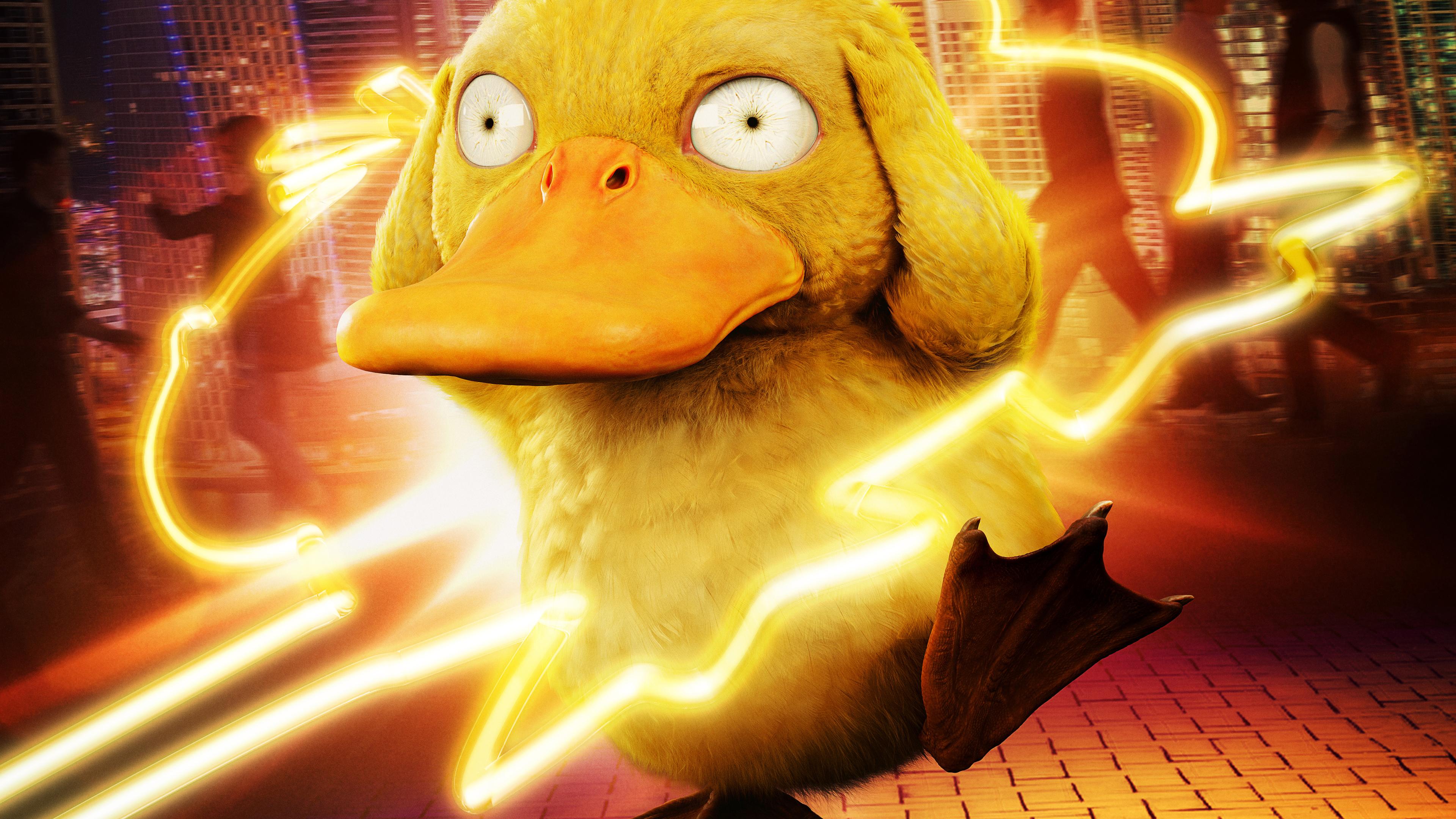 detective pikachu koda duck 4k 1558220007 - Detective Pikachu Koda Duck 4k - pokemon detective pikachu wallpapers, movies wallpapers, hd-wallpapers, detective pikachu movie wallpapers, 4k-wallpapers, 2019 movies wallpapers