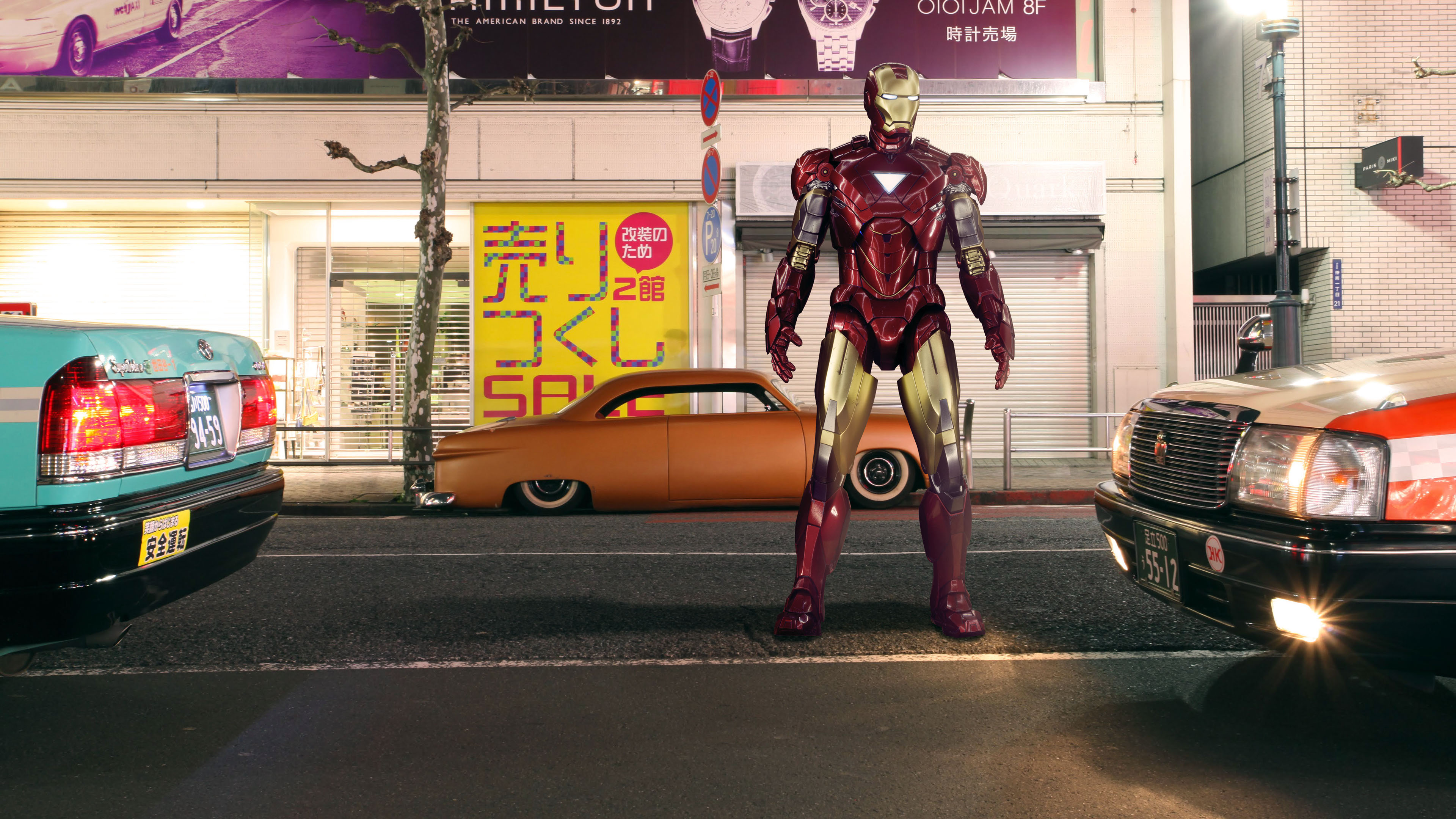 iron man standing on street 4k 1557260449 - Iron Man Standing On Street 4k - superheroes wallpapers, iron man wallpapers, hd-wallpapers, digital art wallpapers, behance wallpapers, artwork wallpapers, artist wallpapers, 4k-wallpapers
