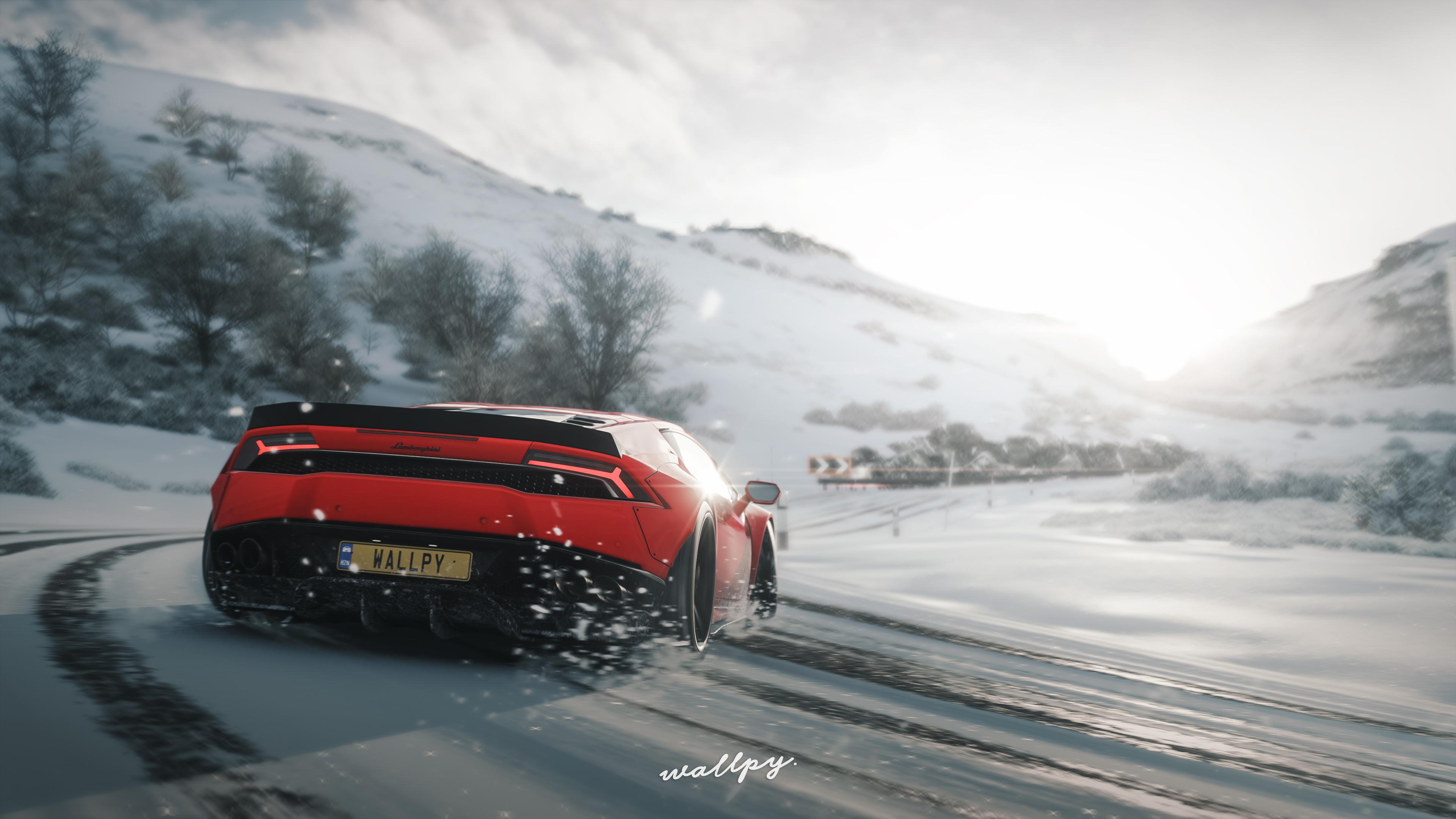 Lamborghini Huracan Drift In Snow Forza Horizon 4 ...