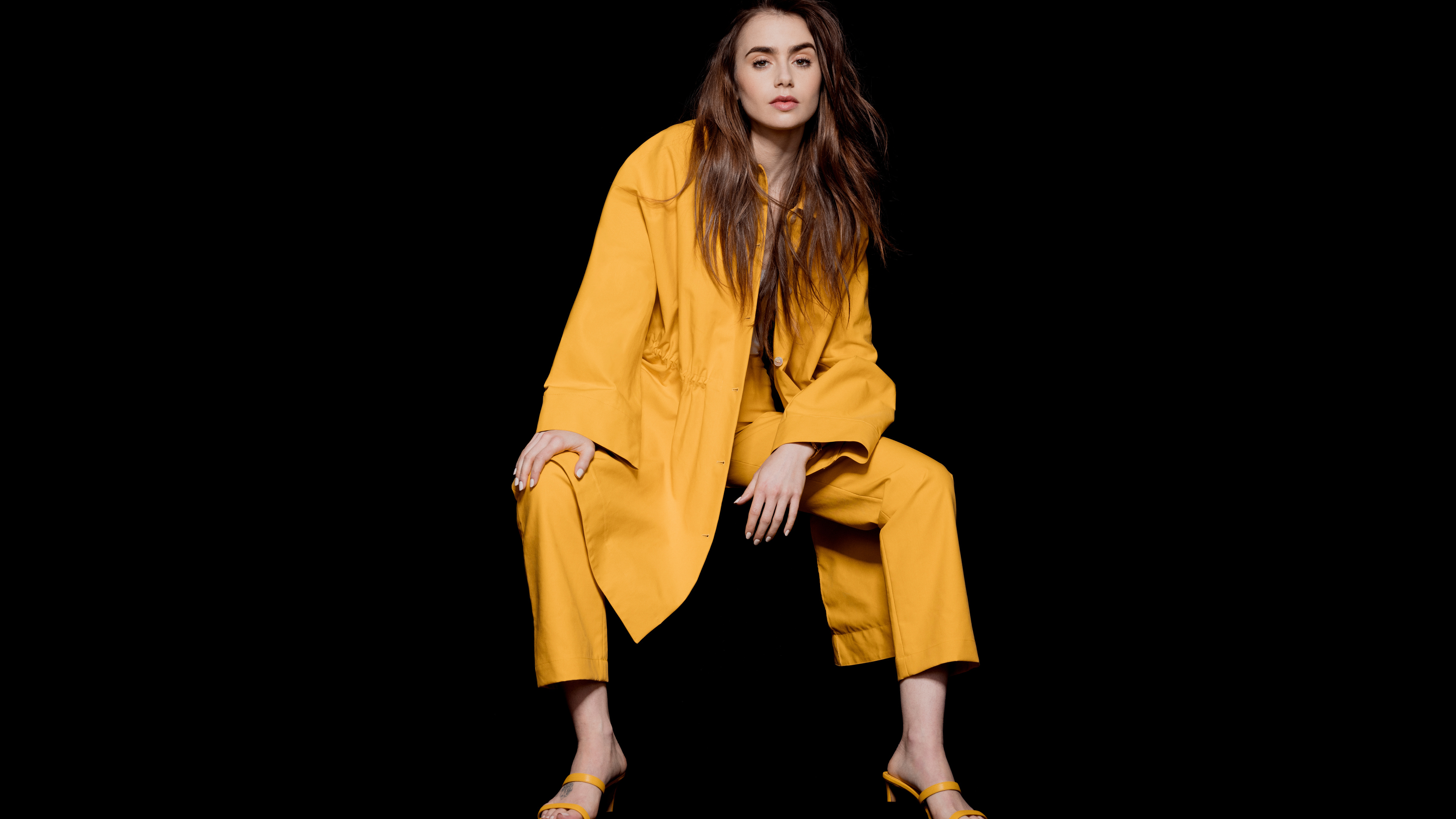 lily collins the observer photoshoot 4k 1558220623 - Lily Collins The Observer Photoshoot 4k - photoshoot wallpapers, model wallpapers, lily collins wallpapers, hd-wallpapers, girls wallpapers, celebrities wallpapers, 4k-wallpapers