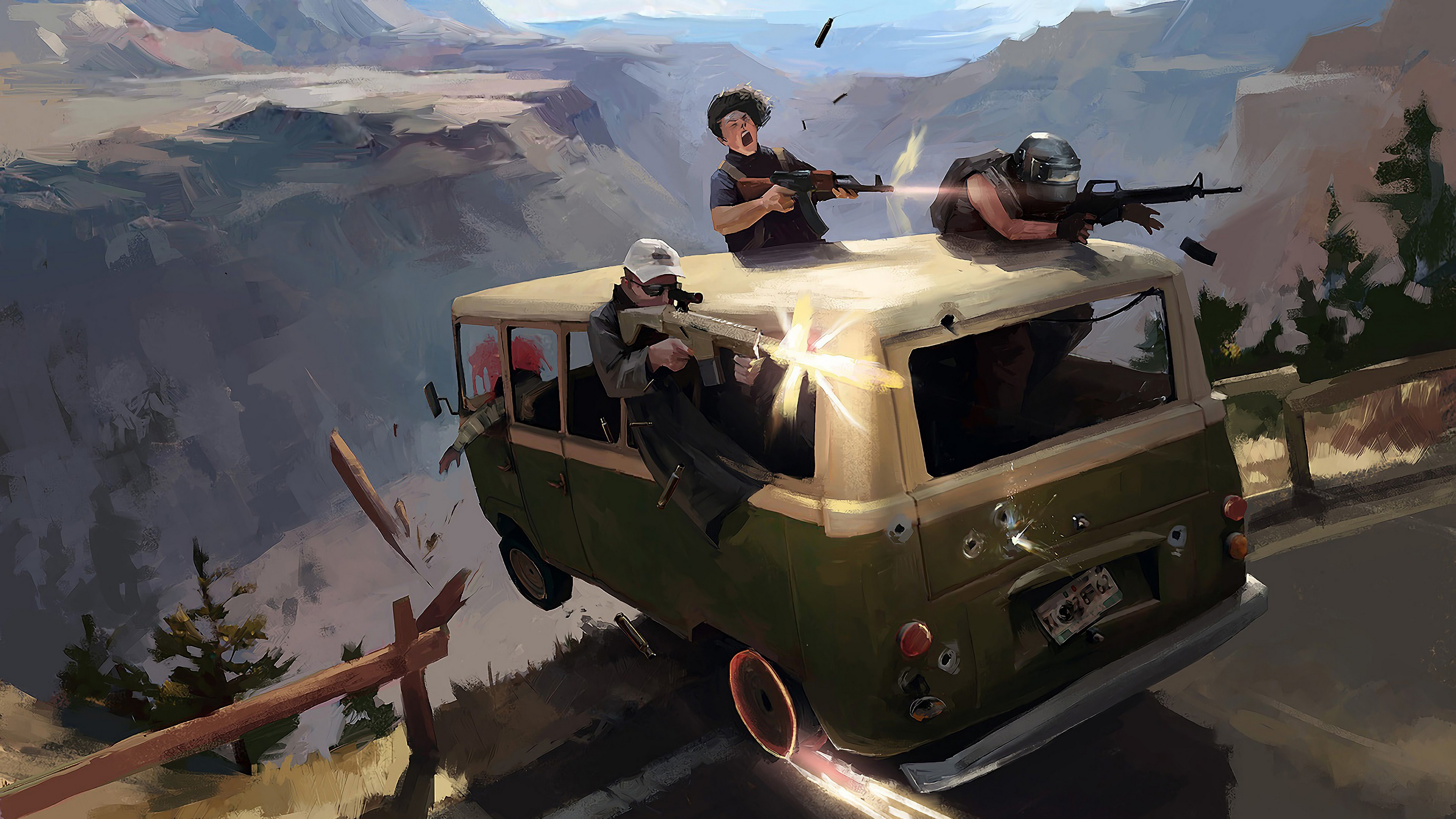 pubg minibus attack 4k 1558221485 - Pubg Minibus Attack 4k - pubg wallpapers, playerunknowns battlegrounds wallpapers, hd-wallpapers, games wallpapers, 4k-wallpapers, 2019 games wallpapers