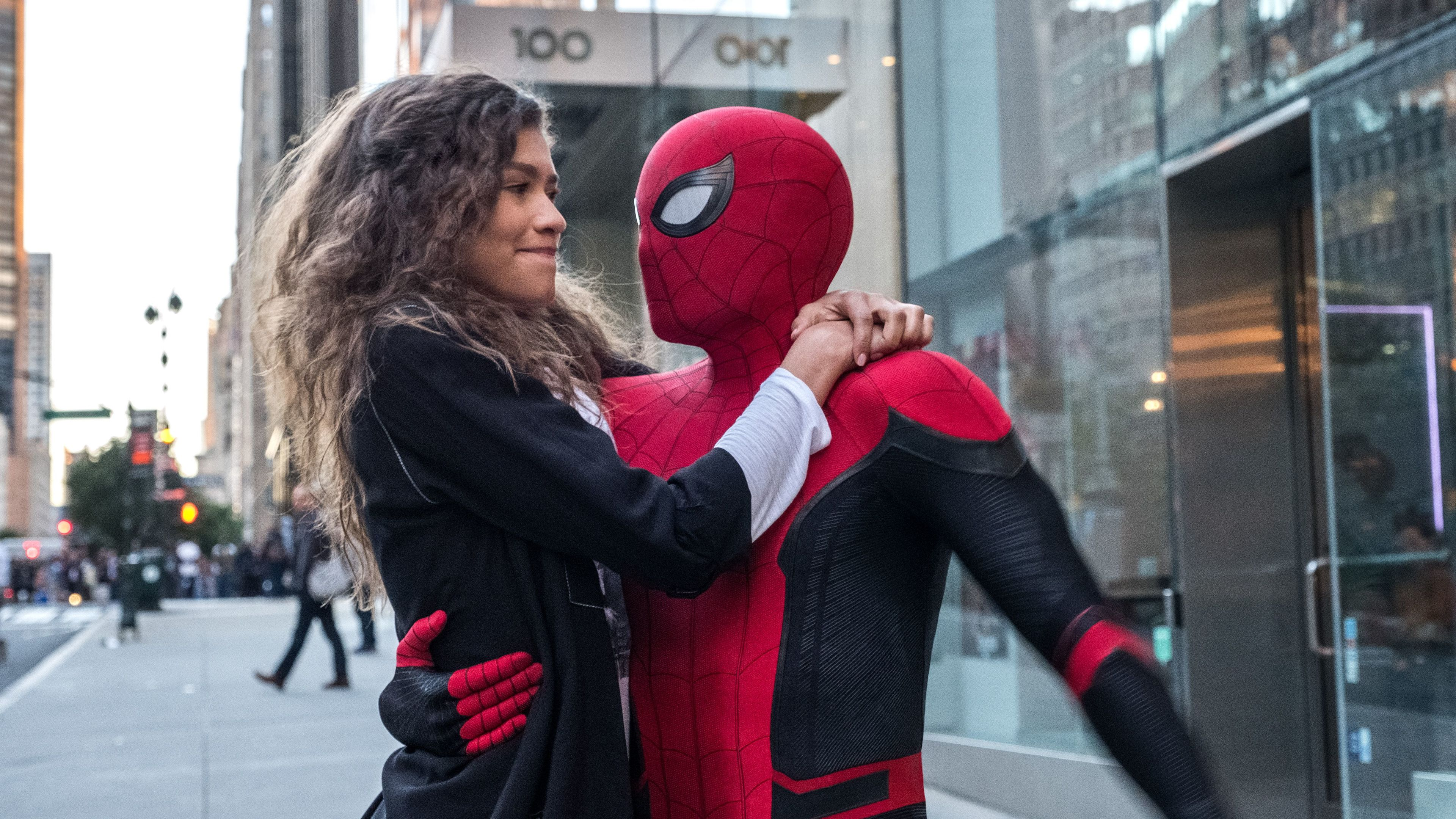 spider man and zendaya in spider man far from home 2019 4k 1558219902 - Spider Man And Zendaya In Spider Man Far From Home 2019 4k - tom holland wallpapers, superheroes wallpapers, spiderman wallpapers, spiderman far from home wallpapers, movies wallpapers, hd-wallpapers, 4k-wallpapers, 2019 movies wallpapers