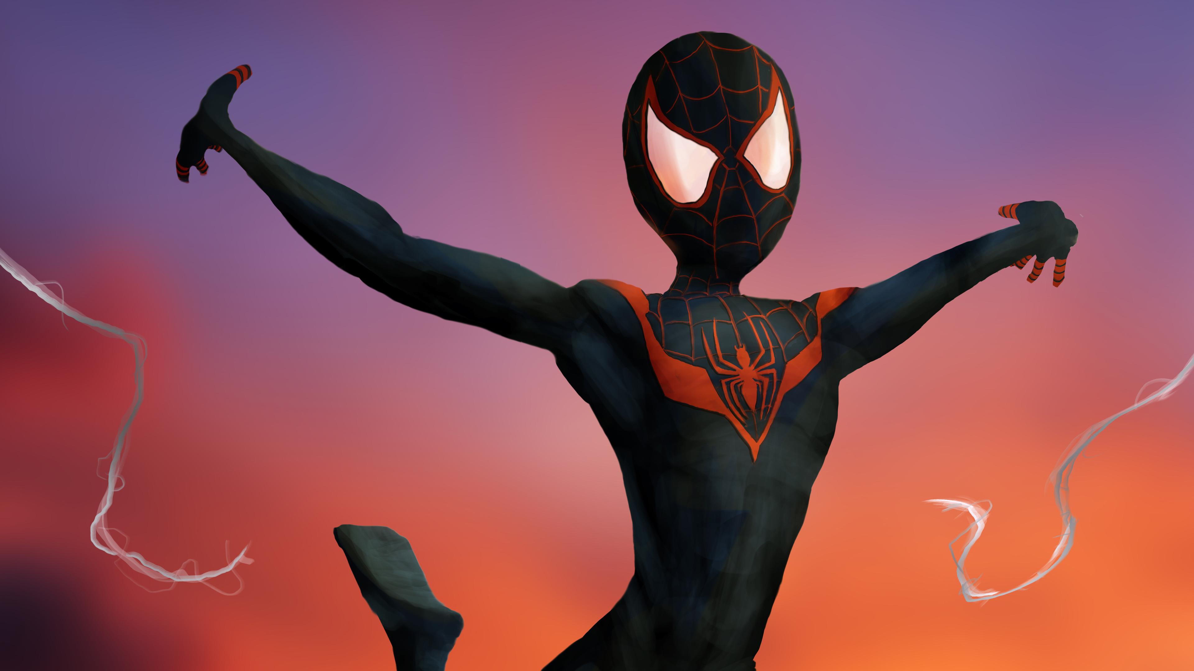 spiderman miles artwork 1557260120 - Spiderman Miles Artwork - superheroes wallpapers, spiderman wallpapers, spiderman into the spider verse wallpapers, hd-wallpapers, digital art wallpapers, deviantart wallpapers, artwork wallpapers, artist wallpapers, 4k-wallpapers