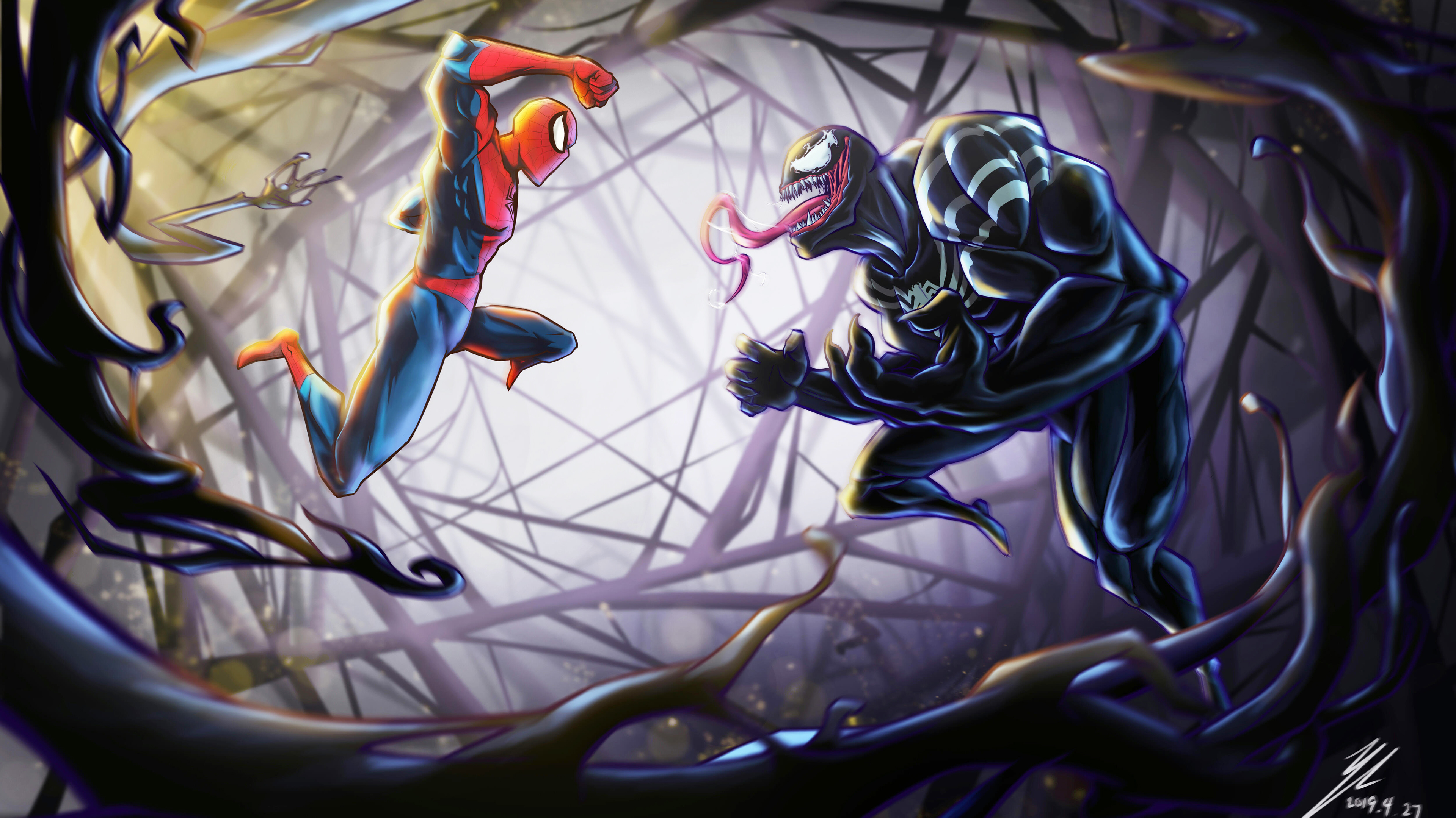 spiderman vs venom 4k 1557260473 - Spiderman Vs Venom 4k - Venom wallpapers, supervillain wallpapers, superheroes wallpapers, spiderman wallpapers, hd-wallpapers, behance wallpapers, 4k-wallpapers