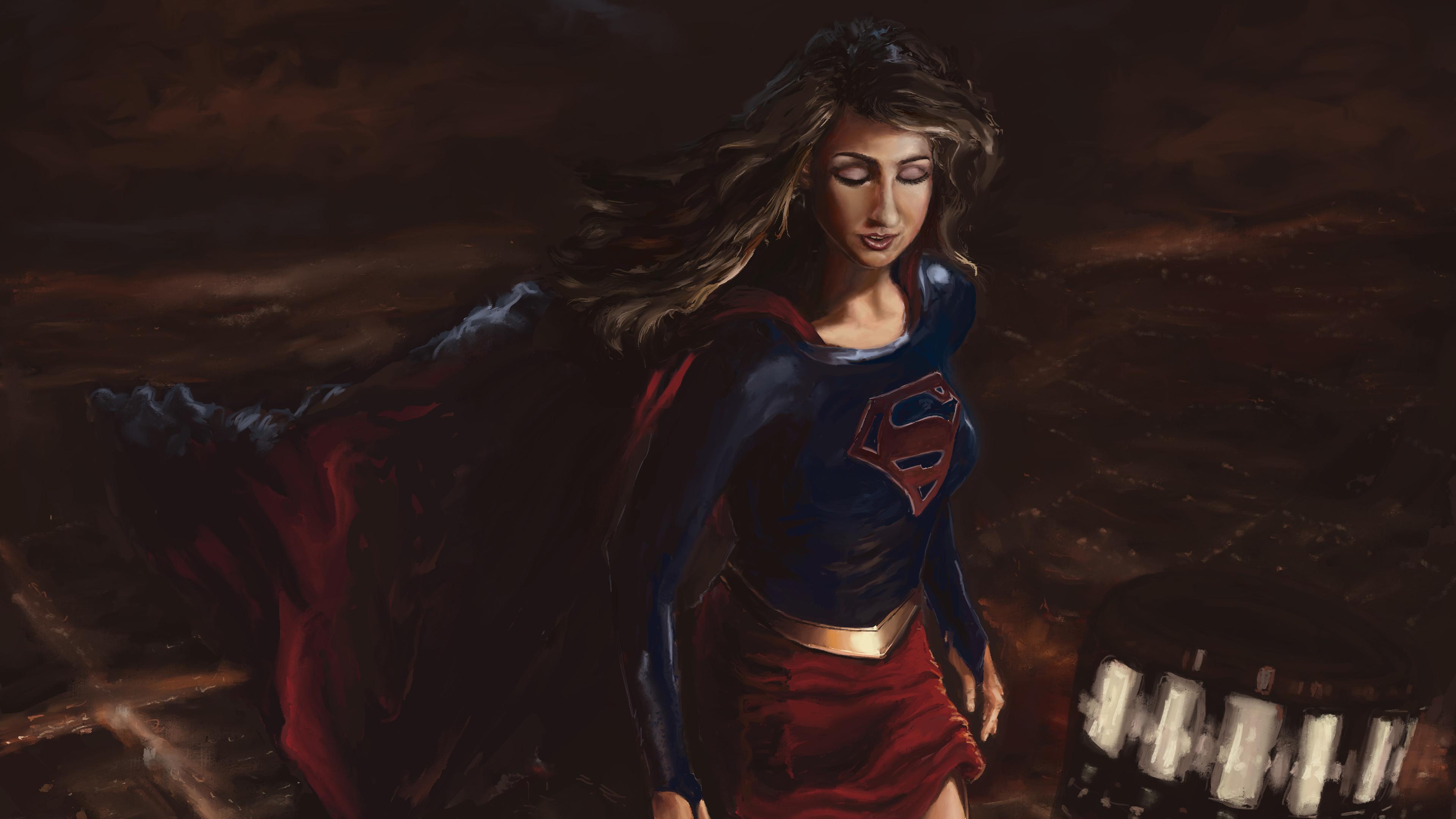 supergirl paint artwork 4k 1557260274 - Supergirl Paint Artwork 4k - superheroes wallpapers, supergirl wallpapers, hd-wallpapers, digital art wallpapers, behance wallpapers, artwork wallpapers, 4k-wallpapers