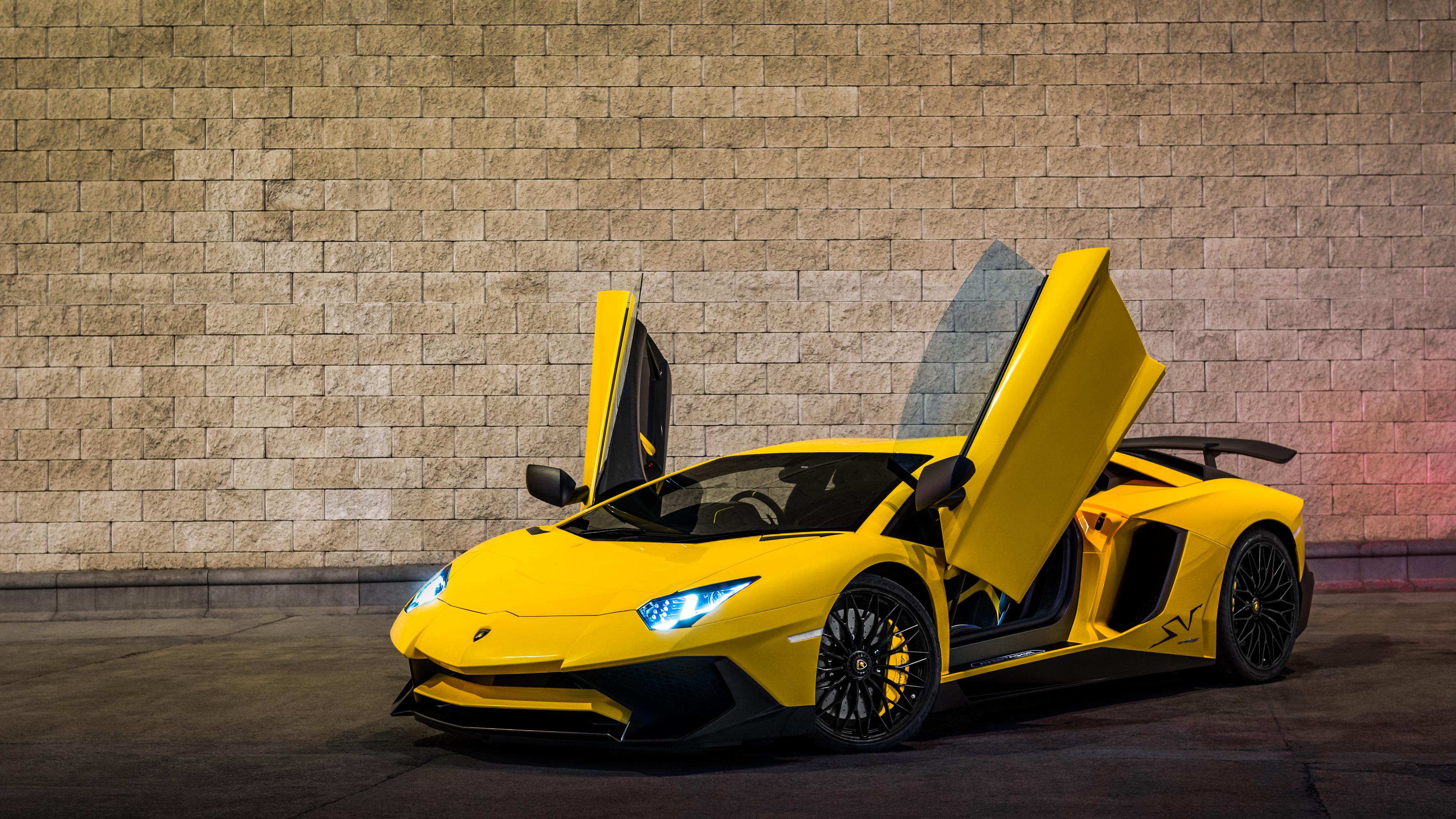Wallpaper 4k Yellow Lamborghini Aventador 2019 4k 4k