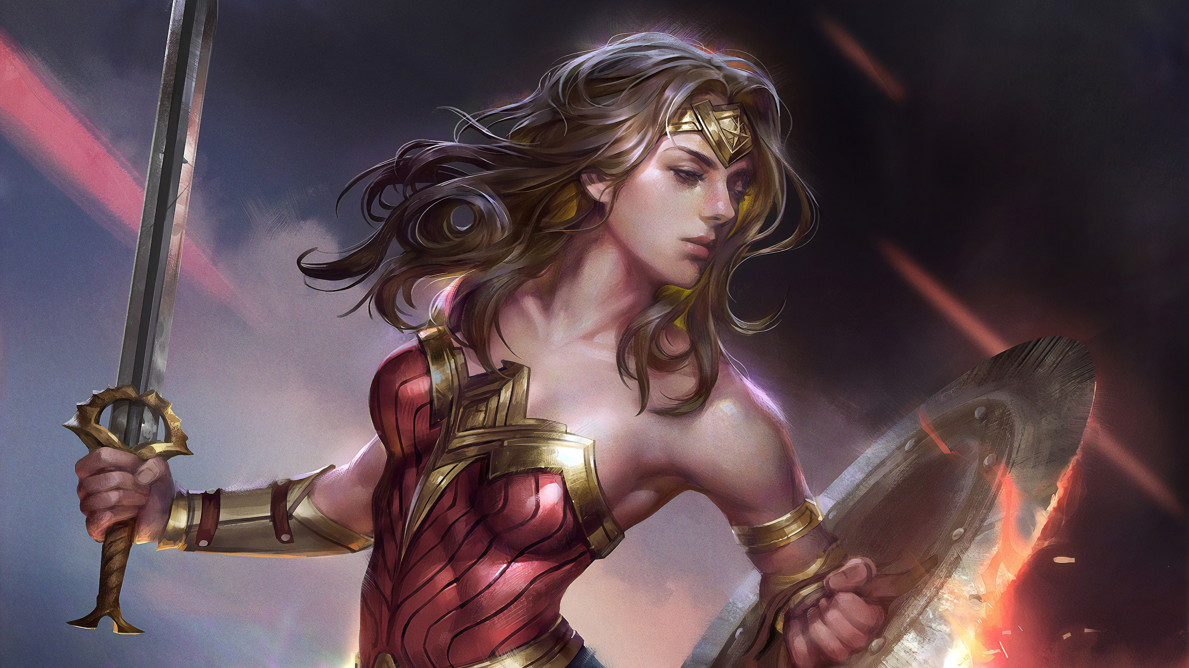 4k artwonder woman 1560533460 - 4k ArtWonder Woman - wonder woman wallpapers, superheroes wallpapers, hd-wallpapers, deviantart wallpapers, artwork wallpapers, artist wallpapers, 4k-wallpapers