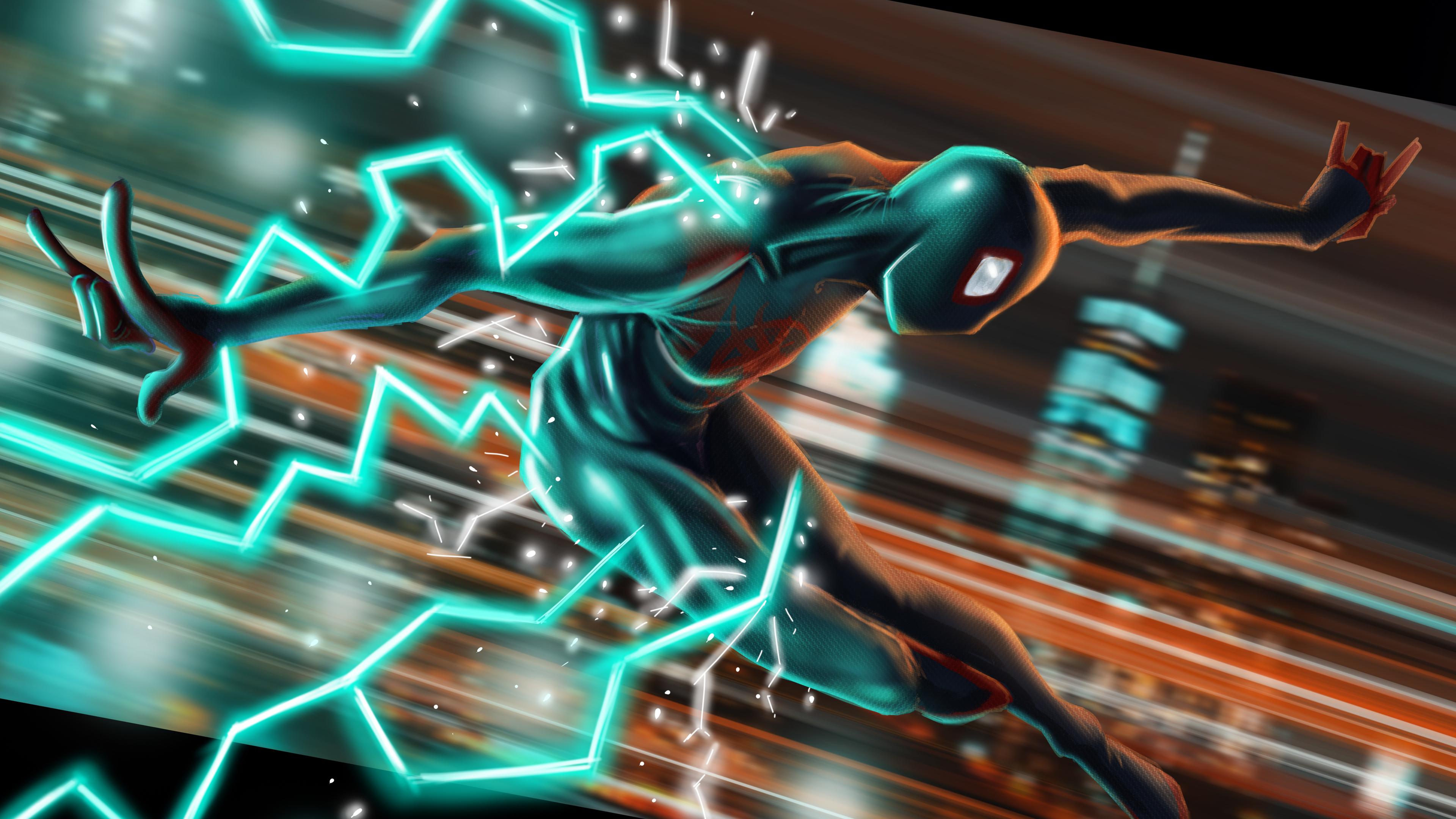 4k artwork miles morales 1560533467 - 4k Artwork Miles Morales - superheroes wallpapers, spiderman wallpapers, spiderman into the spider verse wallpapers, hd-wallpapers, digital art wallpapers, artwork wallpapers, artist wallpapers, 4k-wallpapers