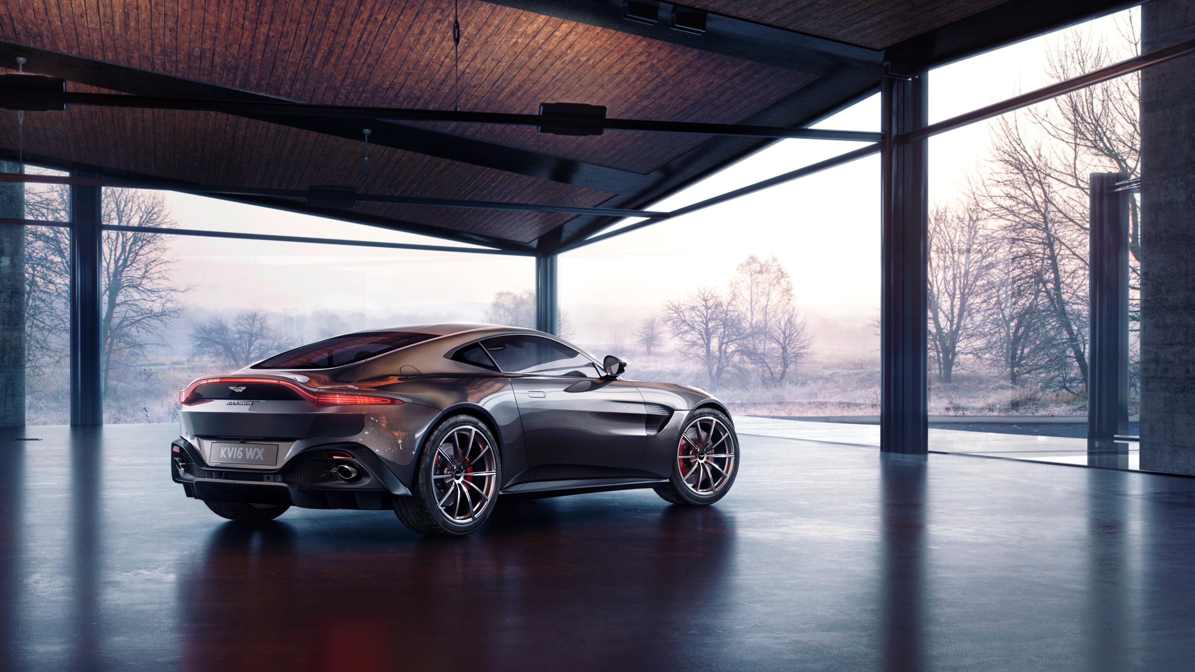 Wallpaper 4k Aston Martin Vantage Rear 2019 Cars Wallpapers