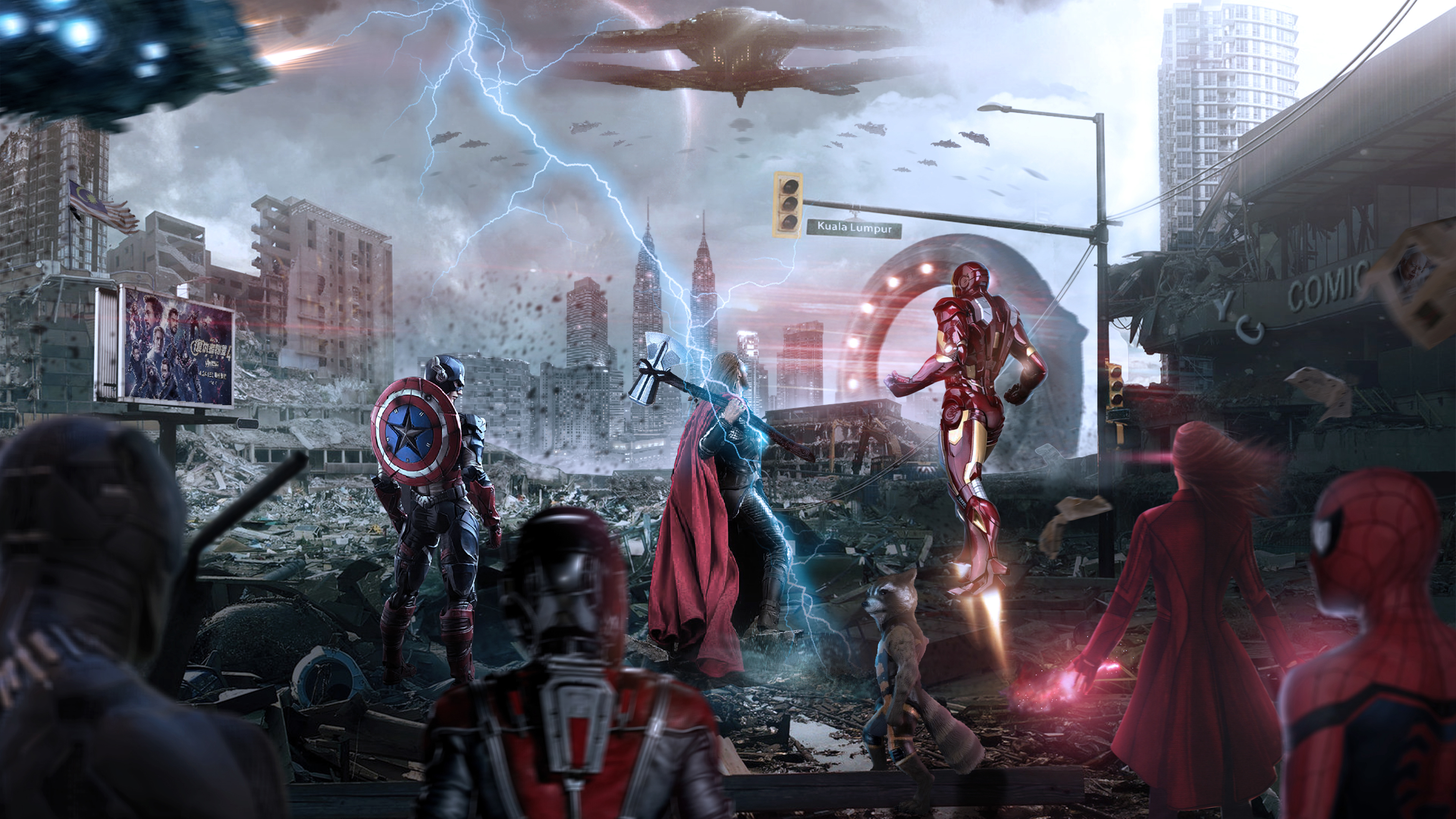 Avengers Endgame Assemble 4k 2019 Thor Wallpapers