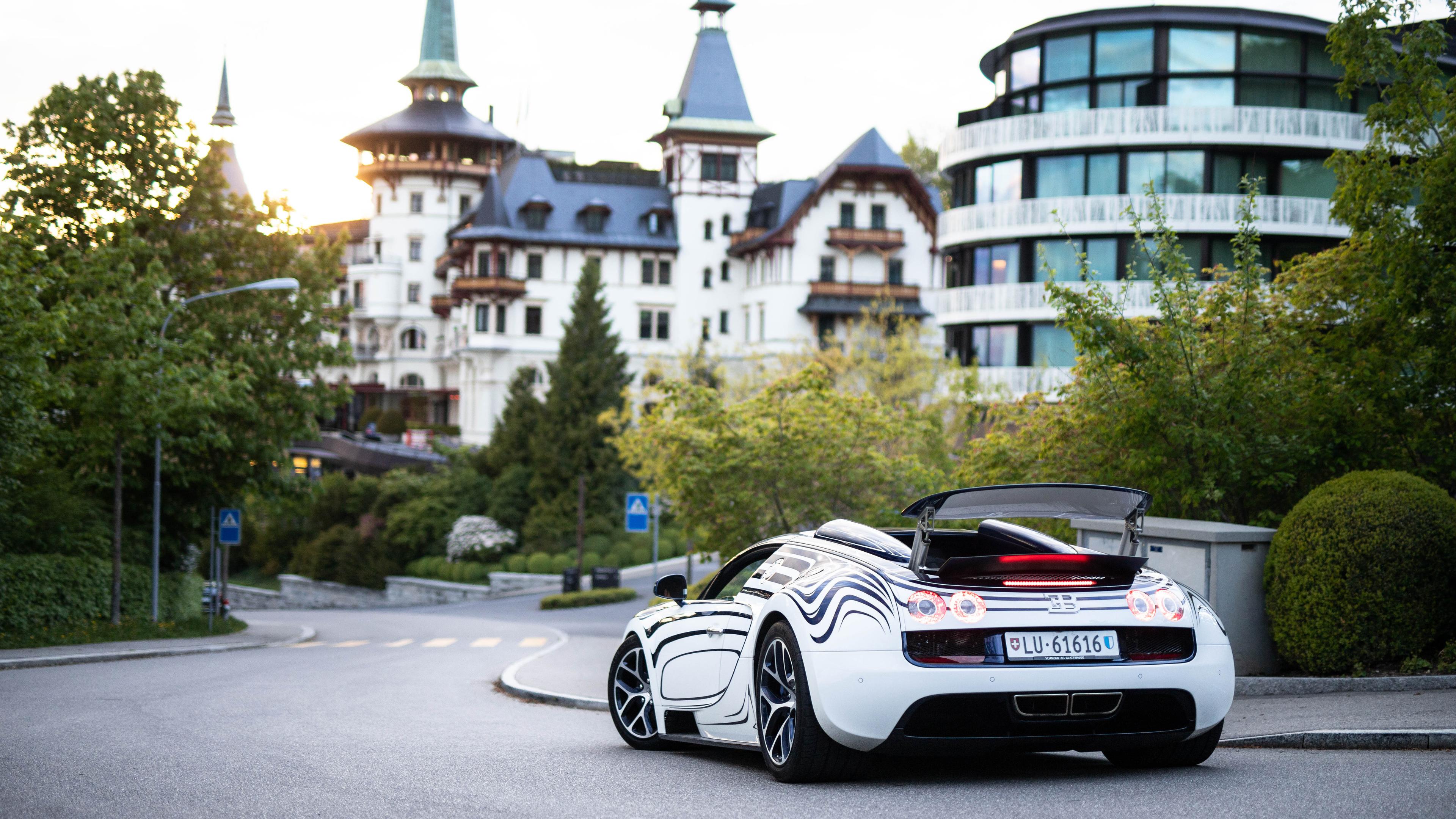 Wallpaper 4k Bugatti Veyron Grand Sport Roadster Rear 4k 4k