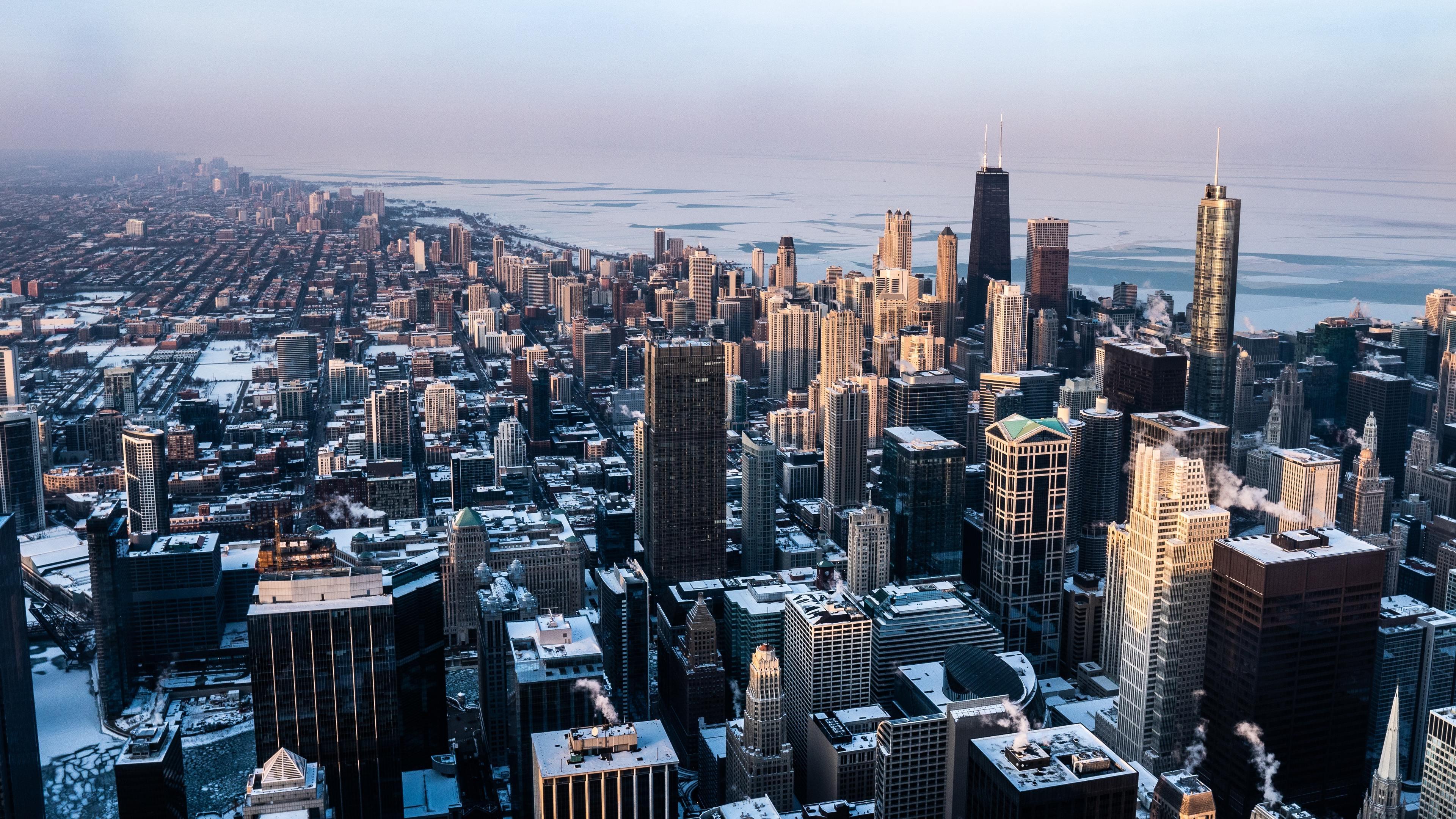 chicago united states 4k 1560535872 - Chicago United States 4k - world wallpapers, usa wallpapers, hd-wallpapers, cityscape wallpapers, chicago wallpapers, buildings wallpapers, 4k-wallpapers