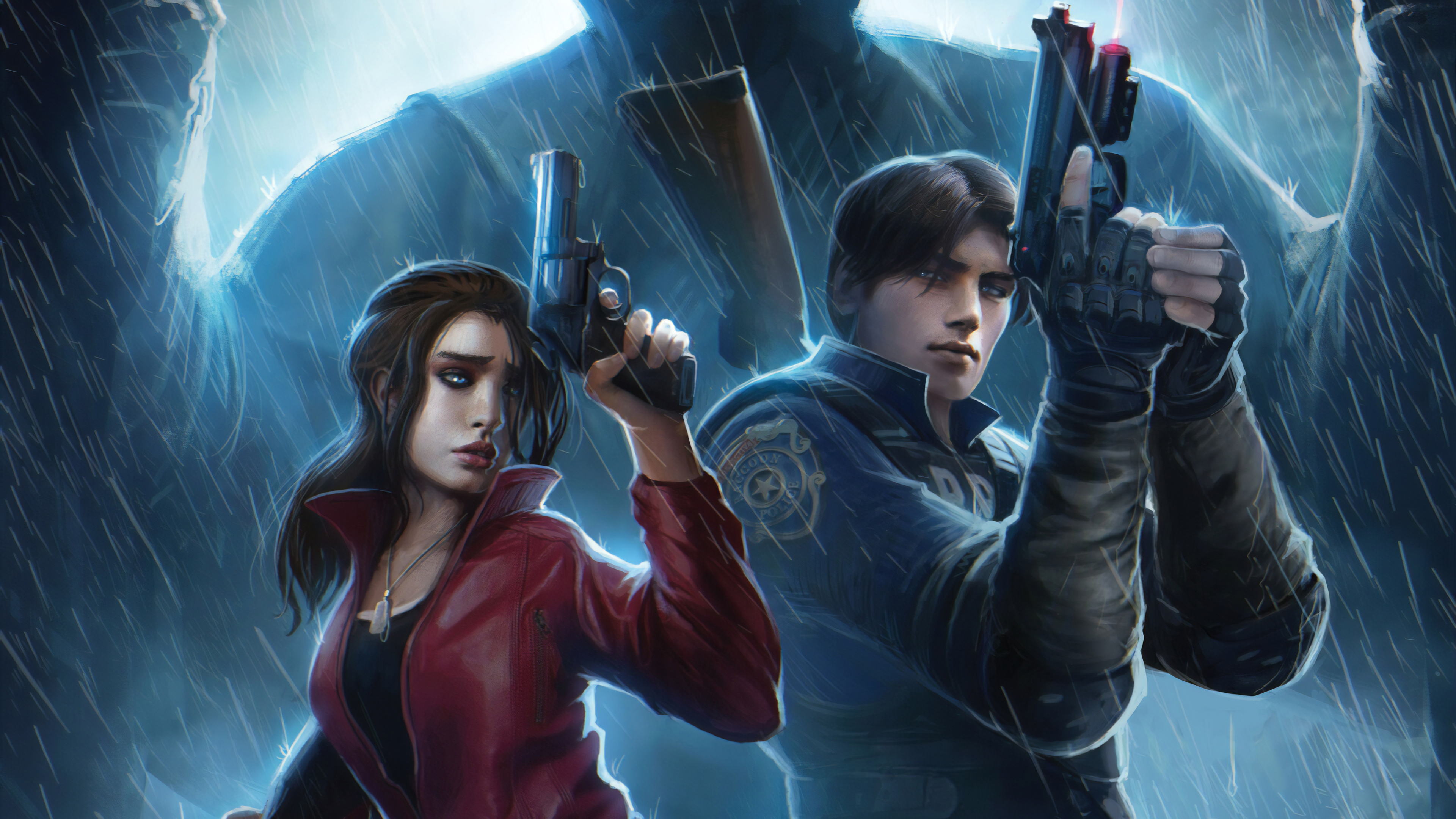 claire redfield and leon resident evil 2 art 1559798200 - Claire Redfield And Leon Resident Evil 2 Art - resident evil 2 wallpapers, hd-wallpapers, games wallpapers, 4k-wallpapers, 2019 games wallpapers