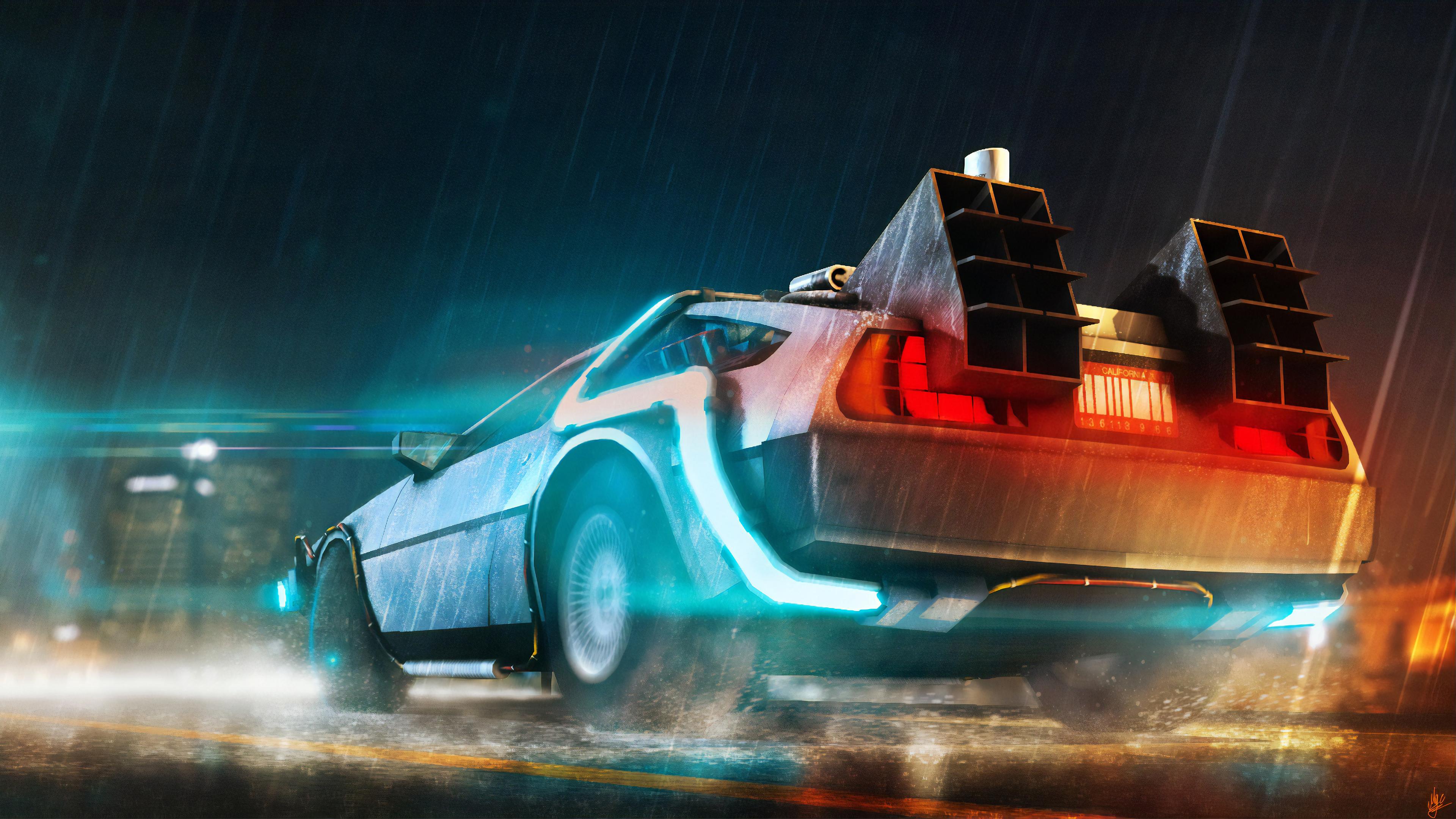 delorean cyberpunk car 4k 1559764630 - Delorean Cyberpunk Car 4k - hd-wallpapers, digital art wallpapers, cyberpunk wallpapers, cars wallpapers, artwork wallpapers, artist wallpapers, 4k-wallpapers