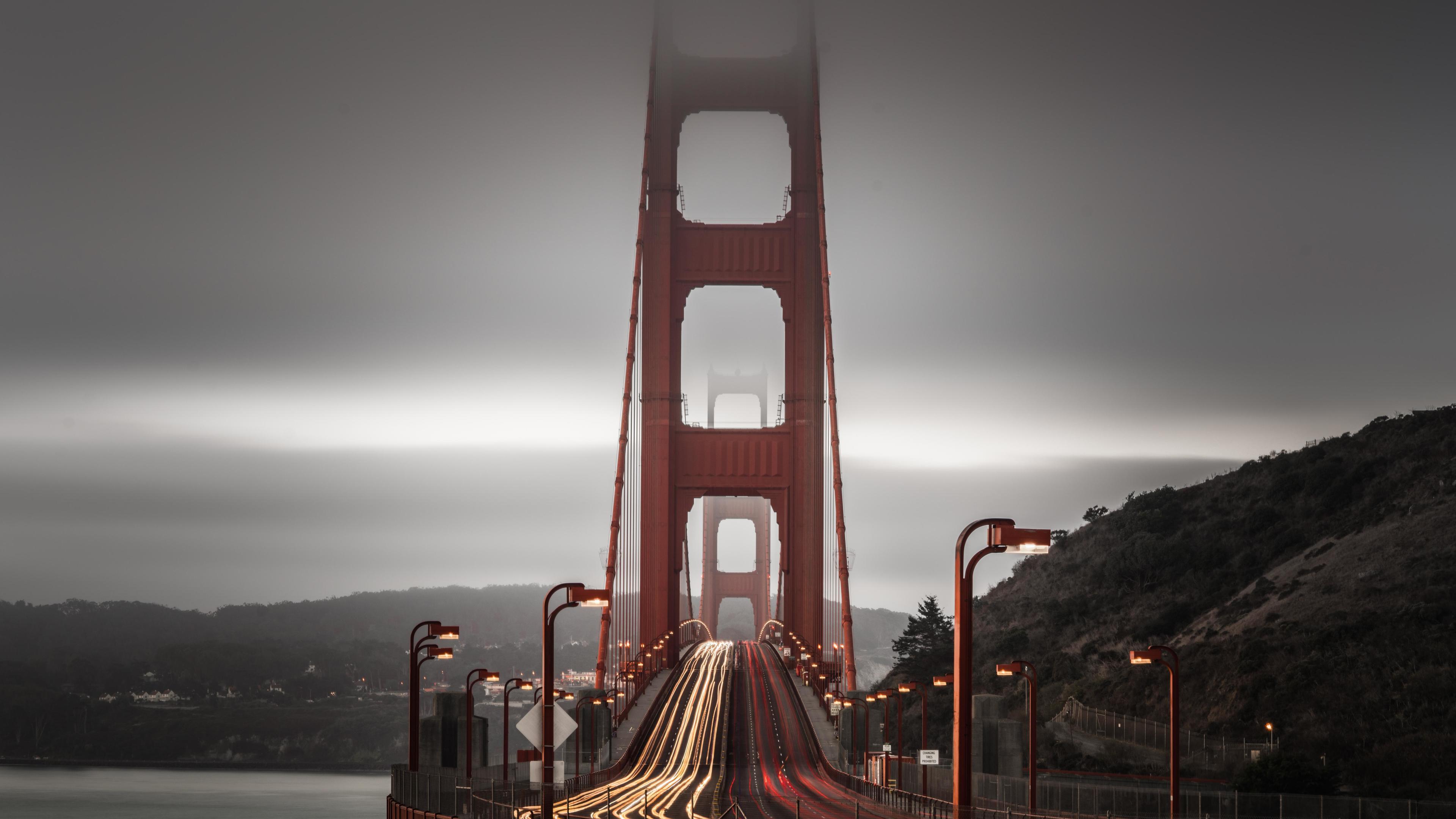golden gate bridge long exposure 4k 1560535888 - Golden Gate Bridge Long Exposure 4k - world wallpapers, san francisco wallpapers, road wallpapers, hd-wallpapers, golden gate bridge wallpapers, bridge wallpapers, 4k-wallpapers
