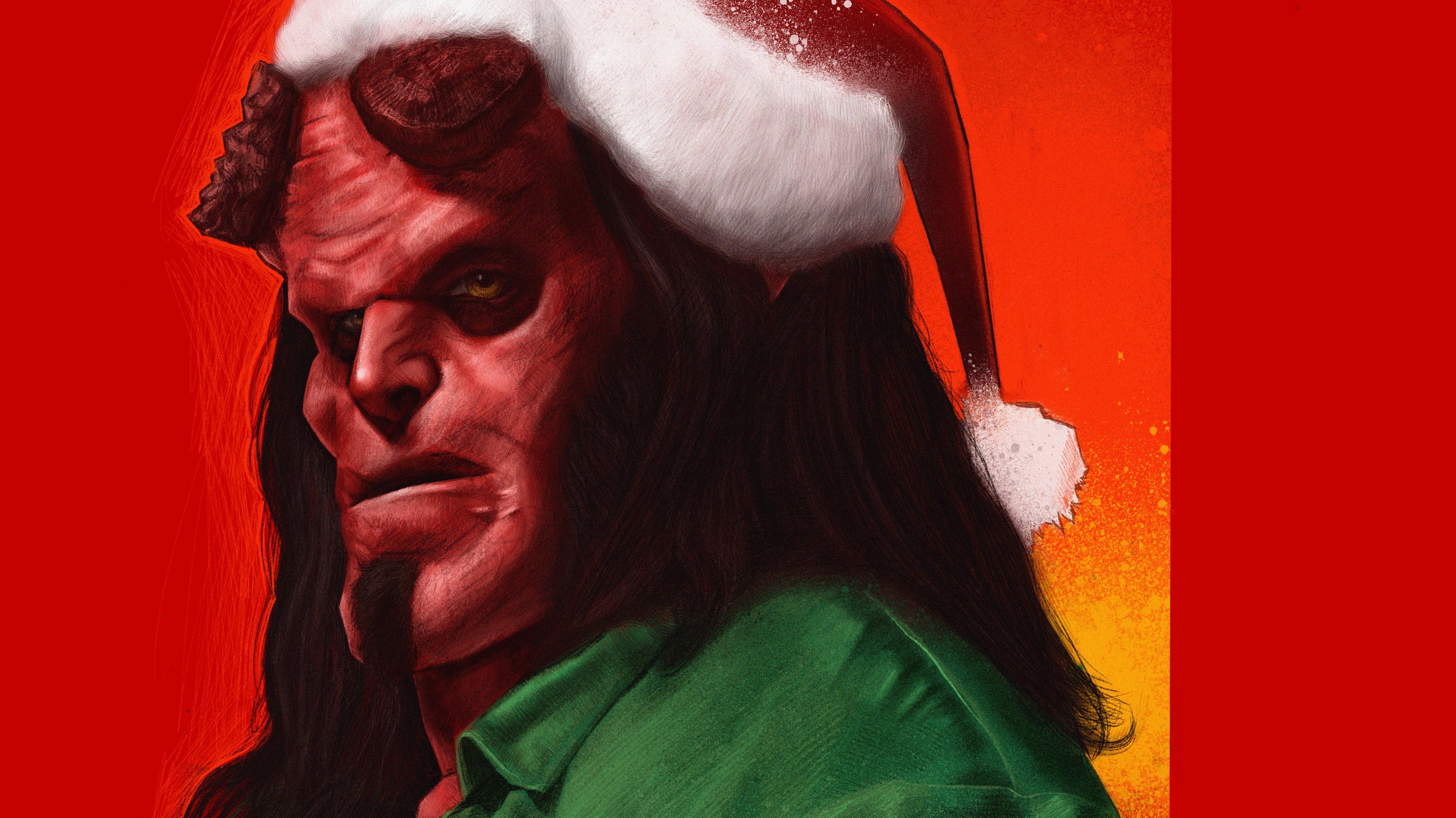 hell of a christmas 1559764230 - Hell Of A Christmas - superheroes wallpapers, hellboy wallpapers, hd-wallpapers, digital art wallpapers, behance wallpapers, artwork wallpapers, art wallpapers, 4k-wallpapers