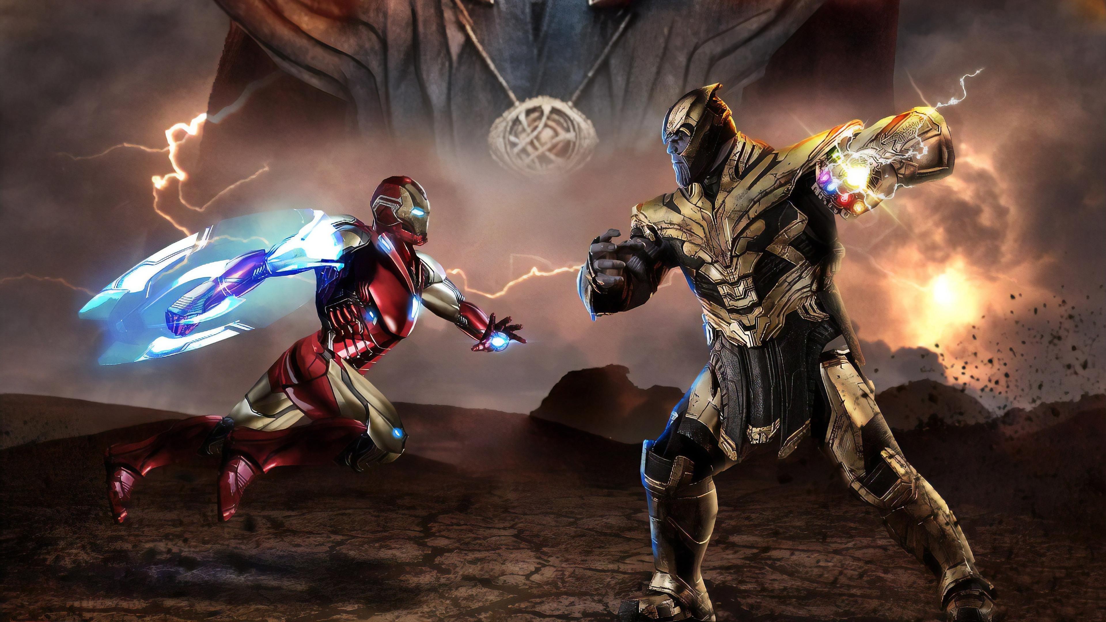 iron man vs thanos avengers endgame 1559764267 - Iron Man Vs Thanos Avengers Endgame - thanos-wallpapers, superheroes wallpapers, iron man wallpapers, hd-wallpapers, behance wallpapers, avengers endgame wallpapers, artwork wallpapers, 4k-wallpapers