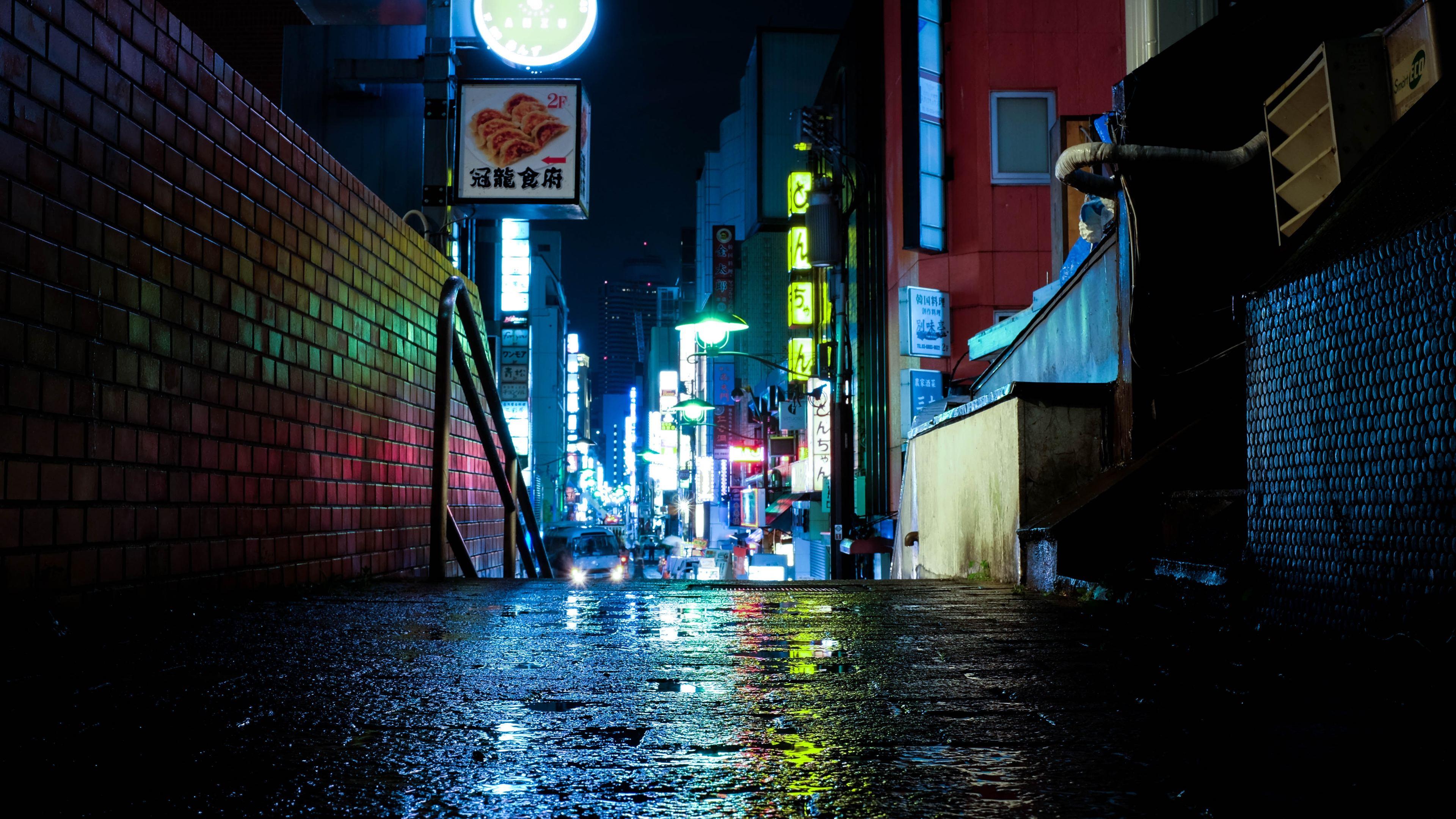 japan tokyo urban lights neon 4k 1560535793