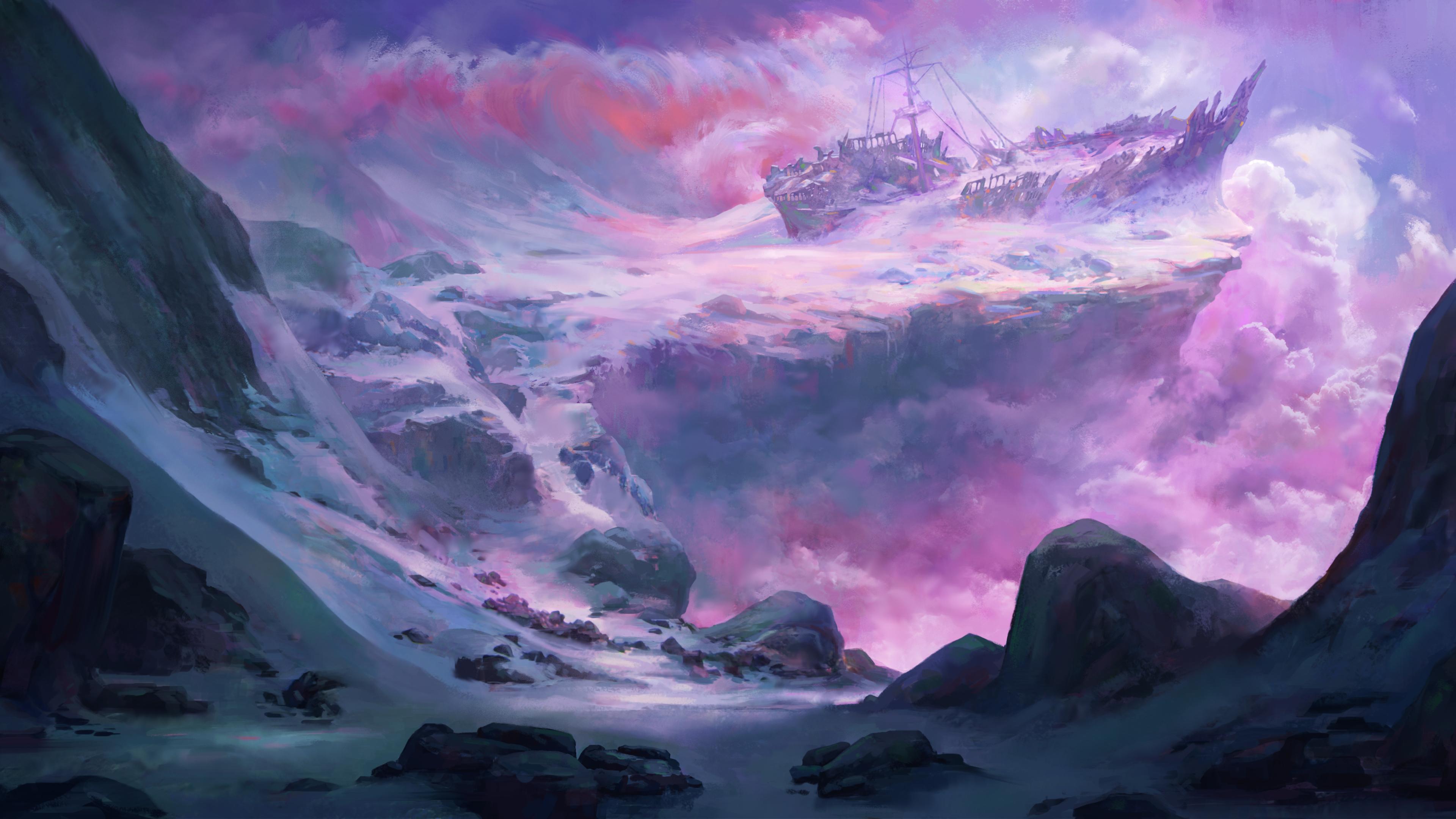 shipwrecked snow scenery 4k 1560535293 - Shipwrecked Snow Scenery 4k - hd-wallpapers, digital art wallpapers, deviantart wallpapers, artwork wallpapers, artist wallpapers, 4k-wallpapers