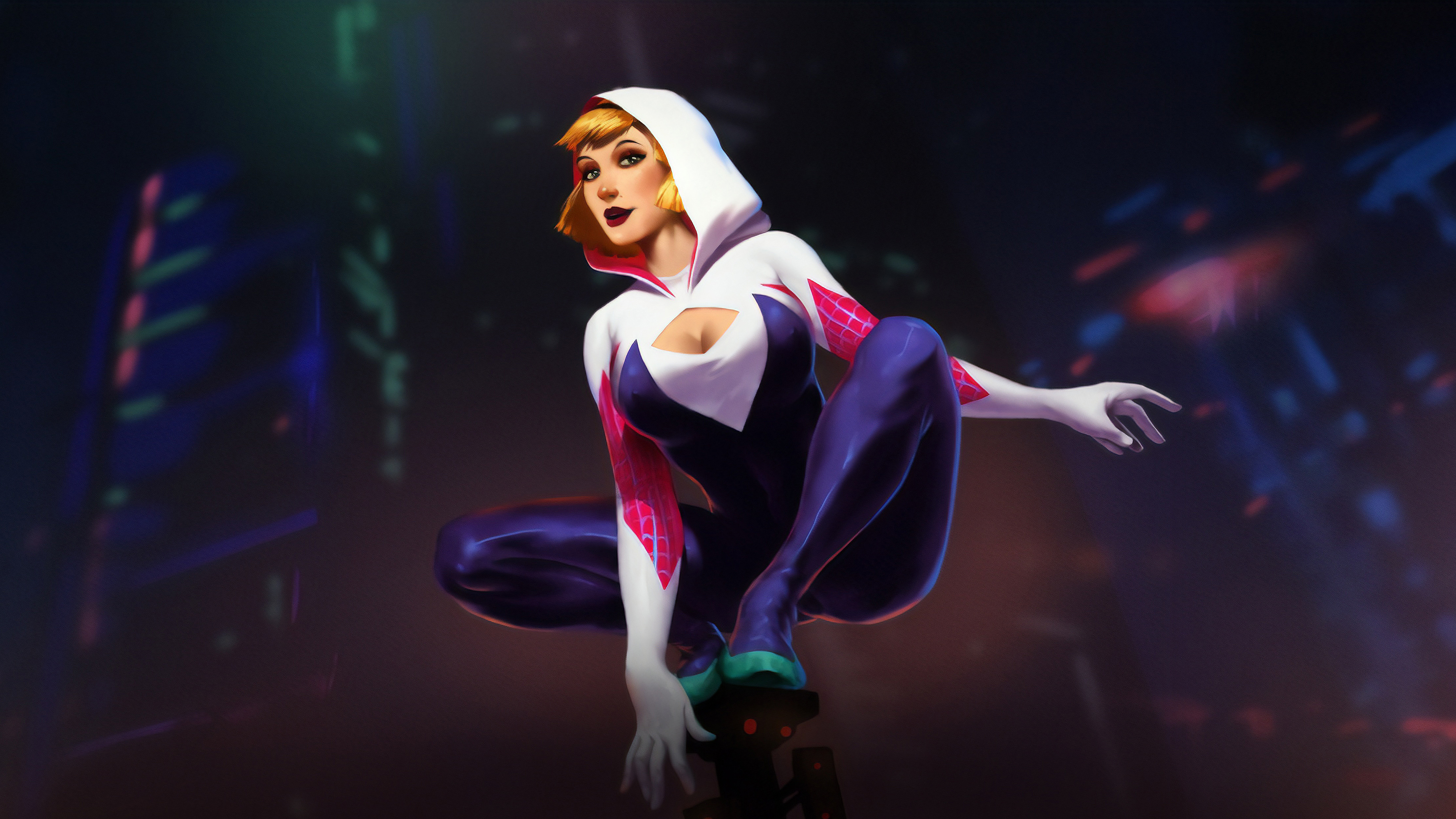 spider gwen stacy artwork 1559764155 - Spider Gwen Stacy Artwork - superheroes wallpapers, hd-wallpapers, gwen stacy wallpapers, digital art wallpapers, behance wallpapers, artwork wallpapers, 4k-wallpapers