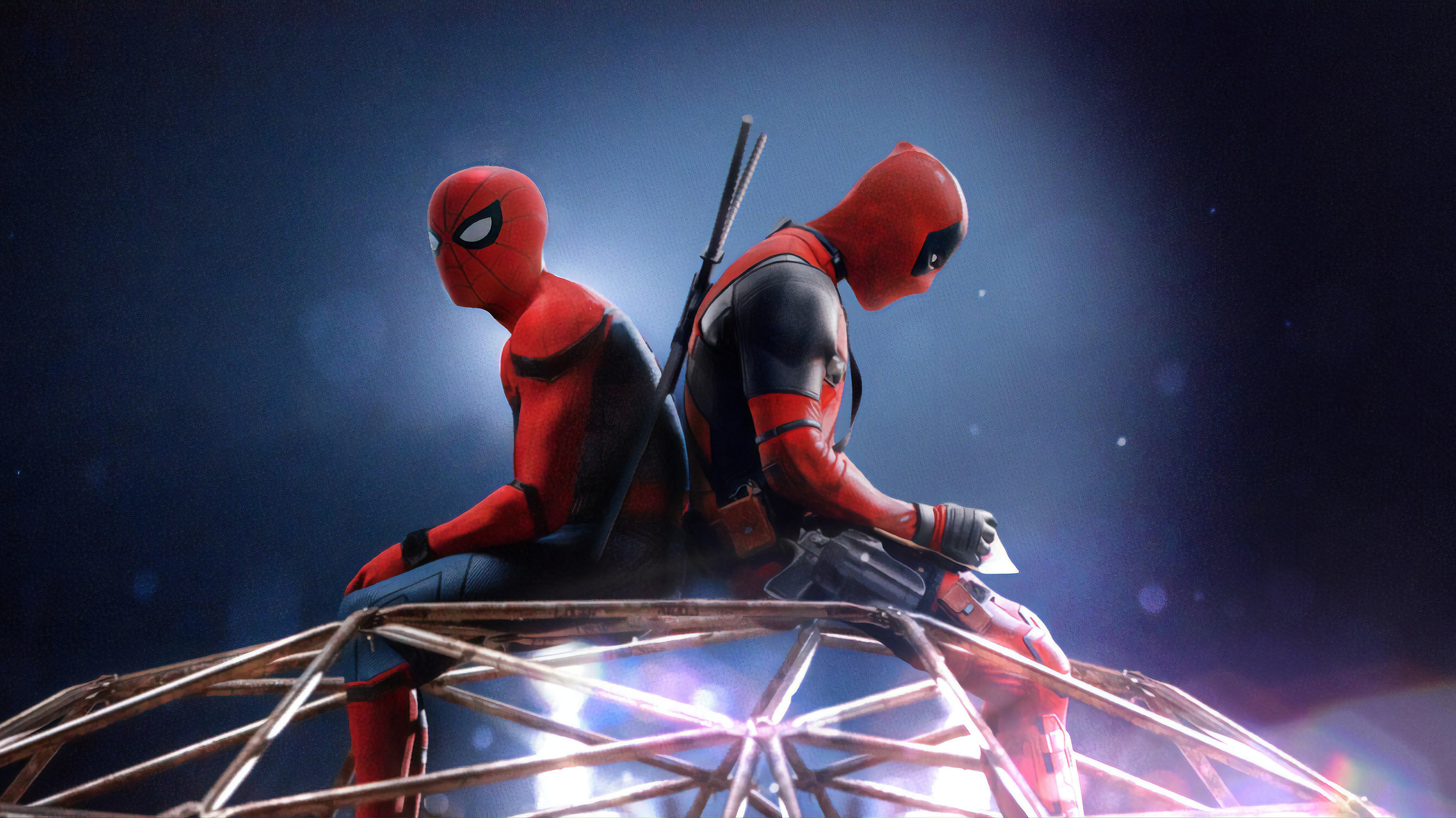 spiderman and deadpool 1560533477 - Spiderman And Deadpool - superheroes wallpapers, spiderman wallpapers, hd-wallpapers, deviantart wallpapers, deadpool wallpapers, artwork wallpapers, 4k-wallpapers