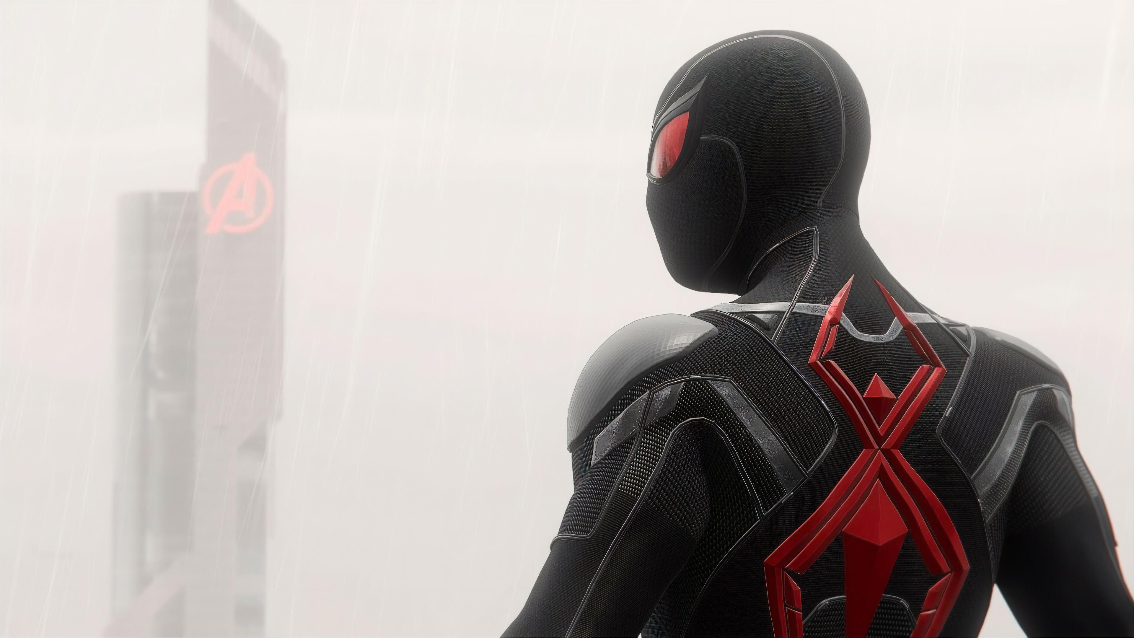 Wallpaper 4k Spiderman Black And Red Suit 4k 2019 Games
