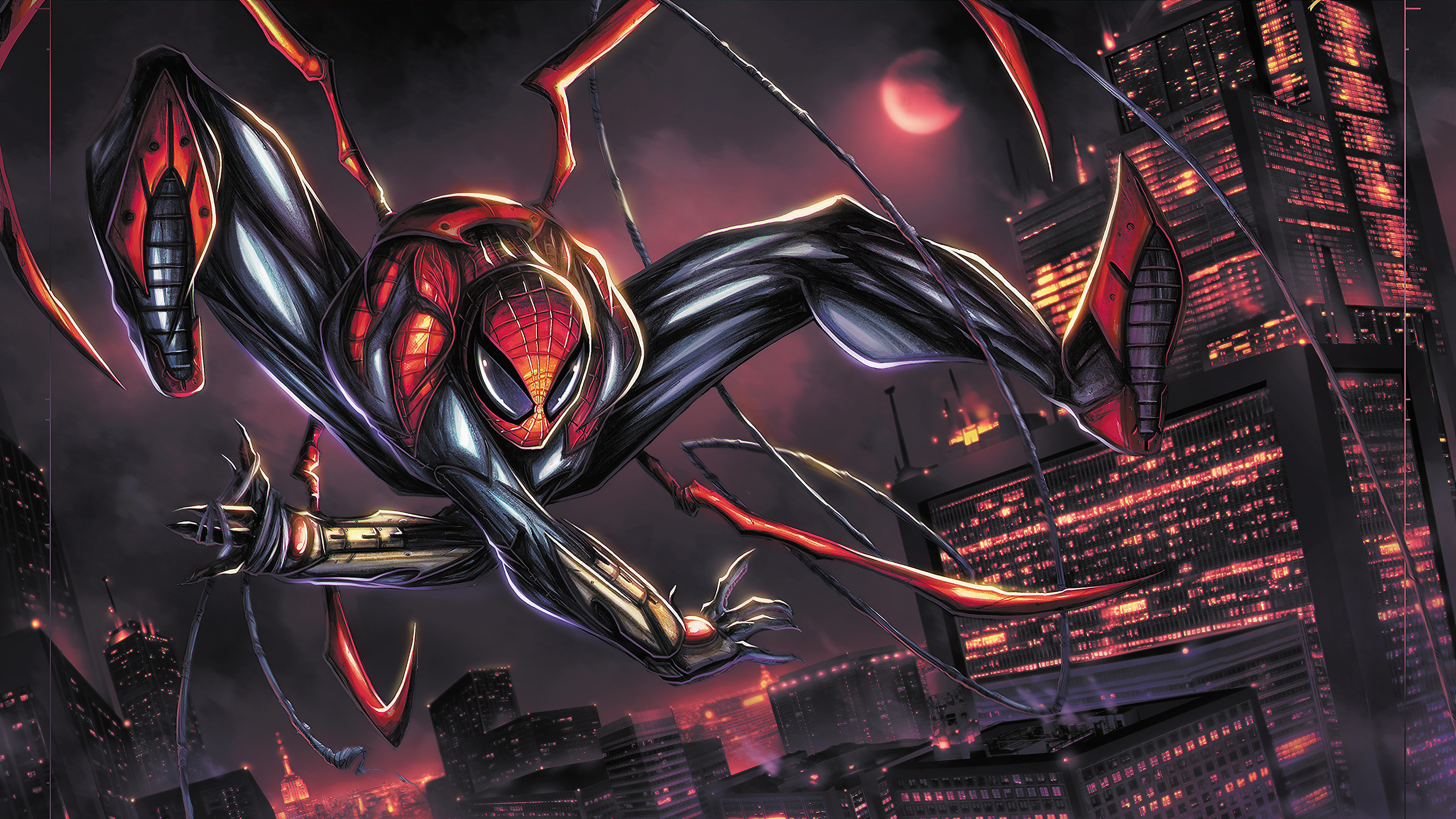 superior spidey 1560533729 - Superior Spidey - superheroes wallpapers, spiderman wallpapers, hd-wallpapers, digital art wallpapers, deviantart wallpapers, artwork wallpapers, artist wallpapers, 4k-wallpapers